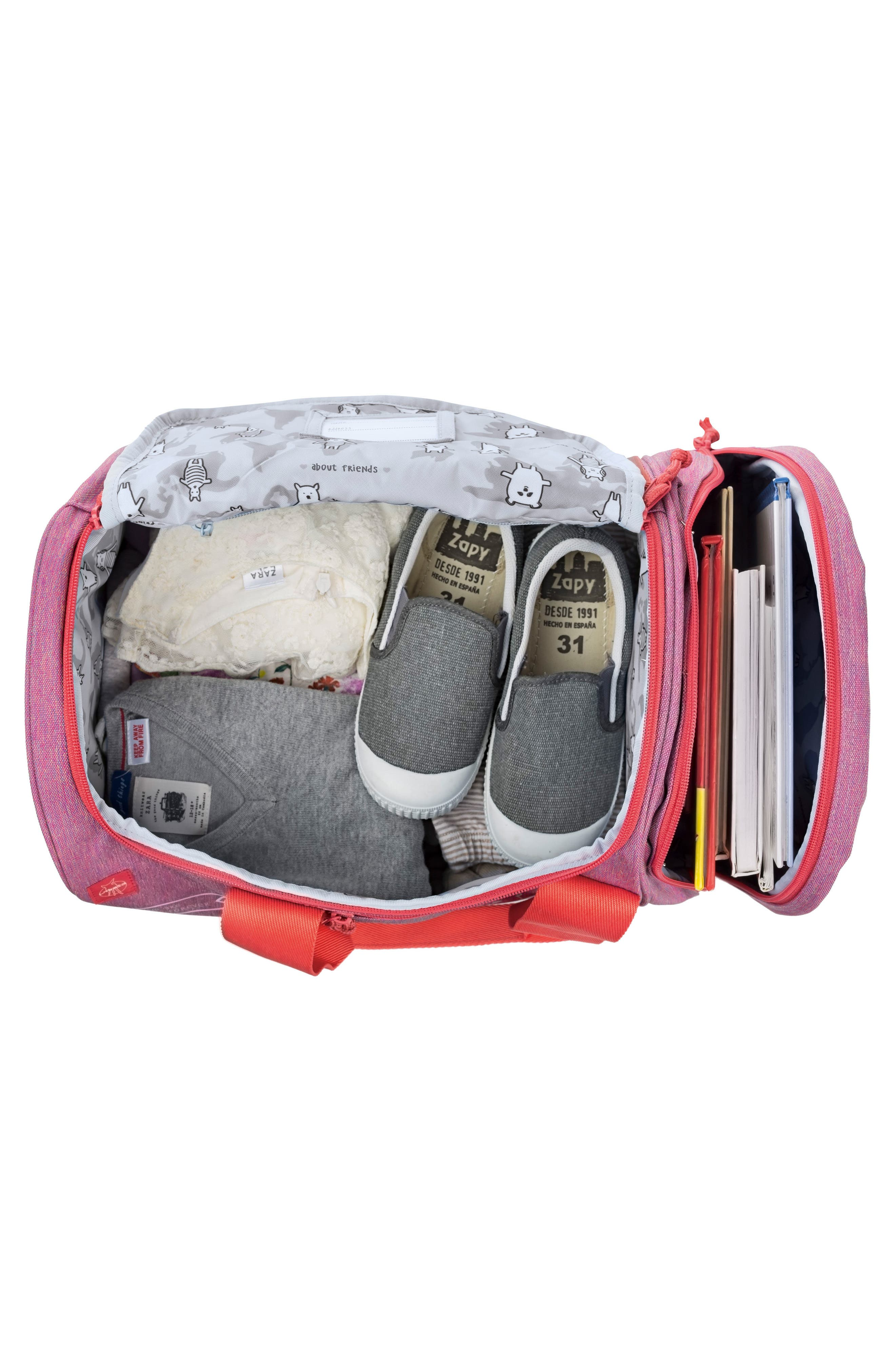 Mini About Friends Duffel Bag,                             Alternate thumbnail 3, color,                             Melange Pink