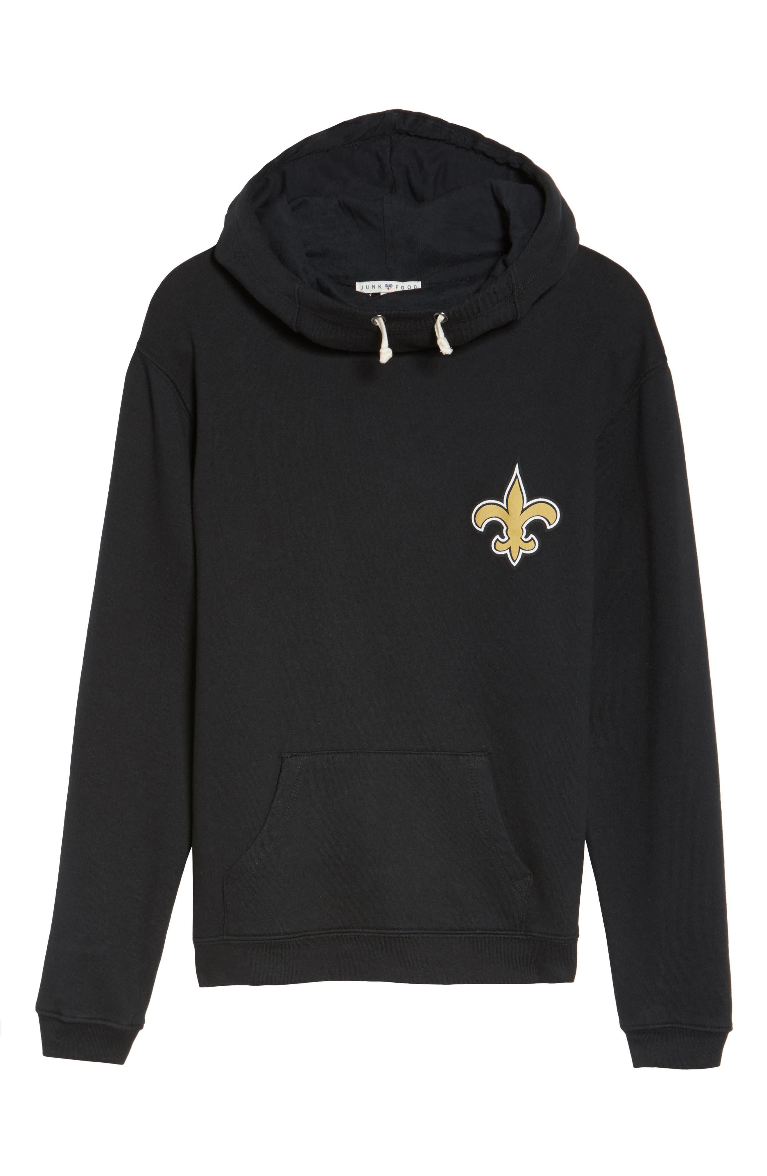 NFL New Orleans Saints Sunday Hoodie,                             Alternate thumbnail 4, color,                             True Black