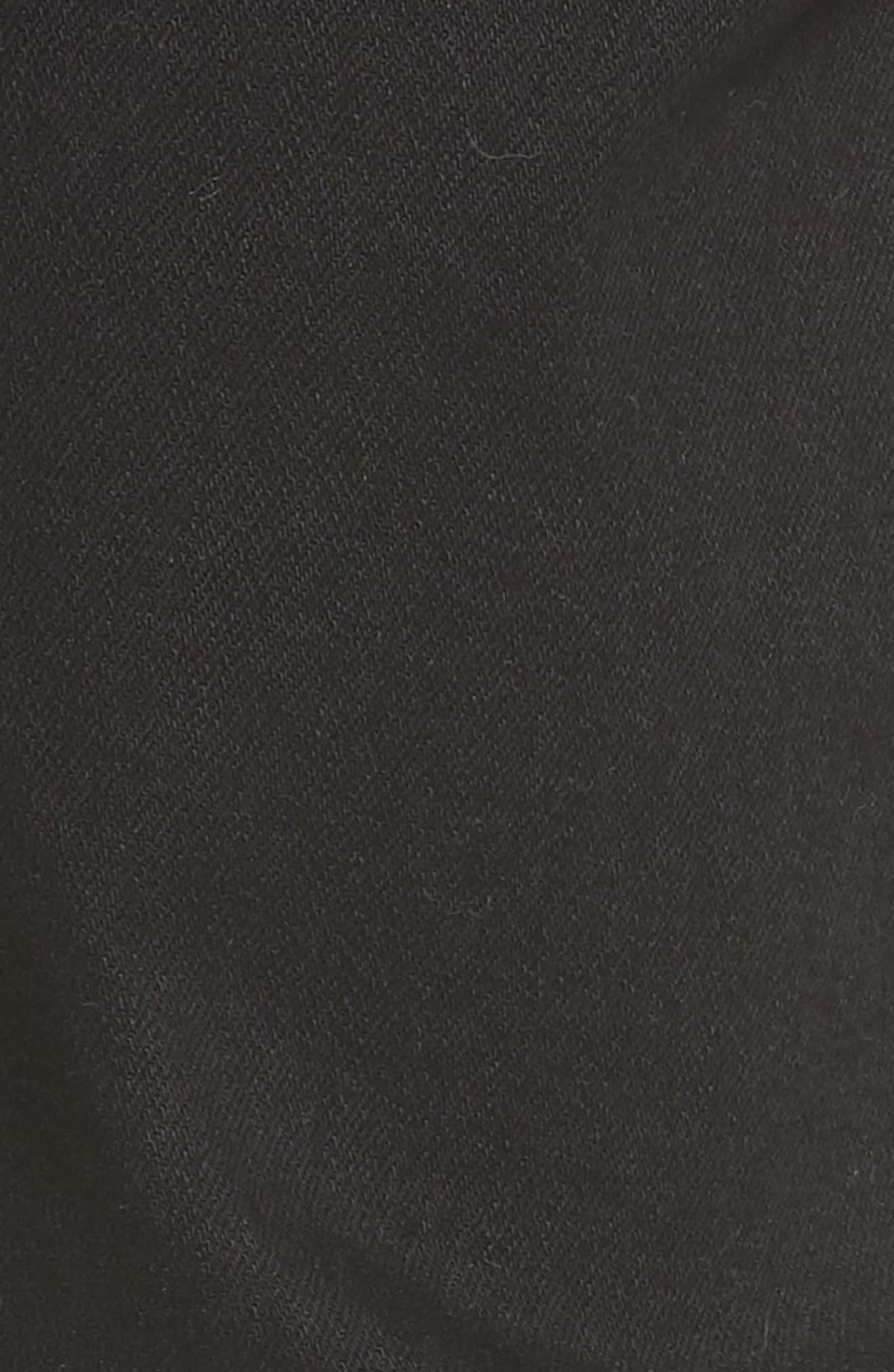 Snap Skinny Fit Jeans,                             Alternate thumbnail 5, color,                             Organic Black