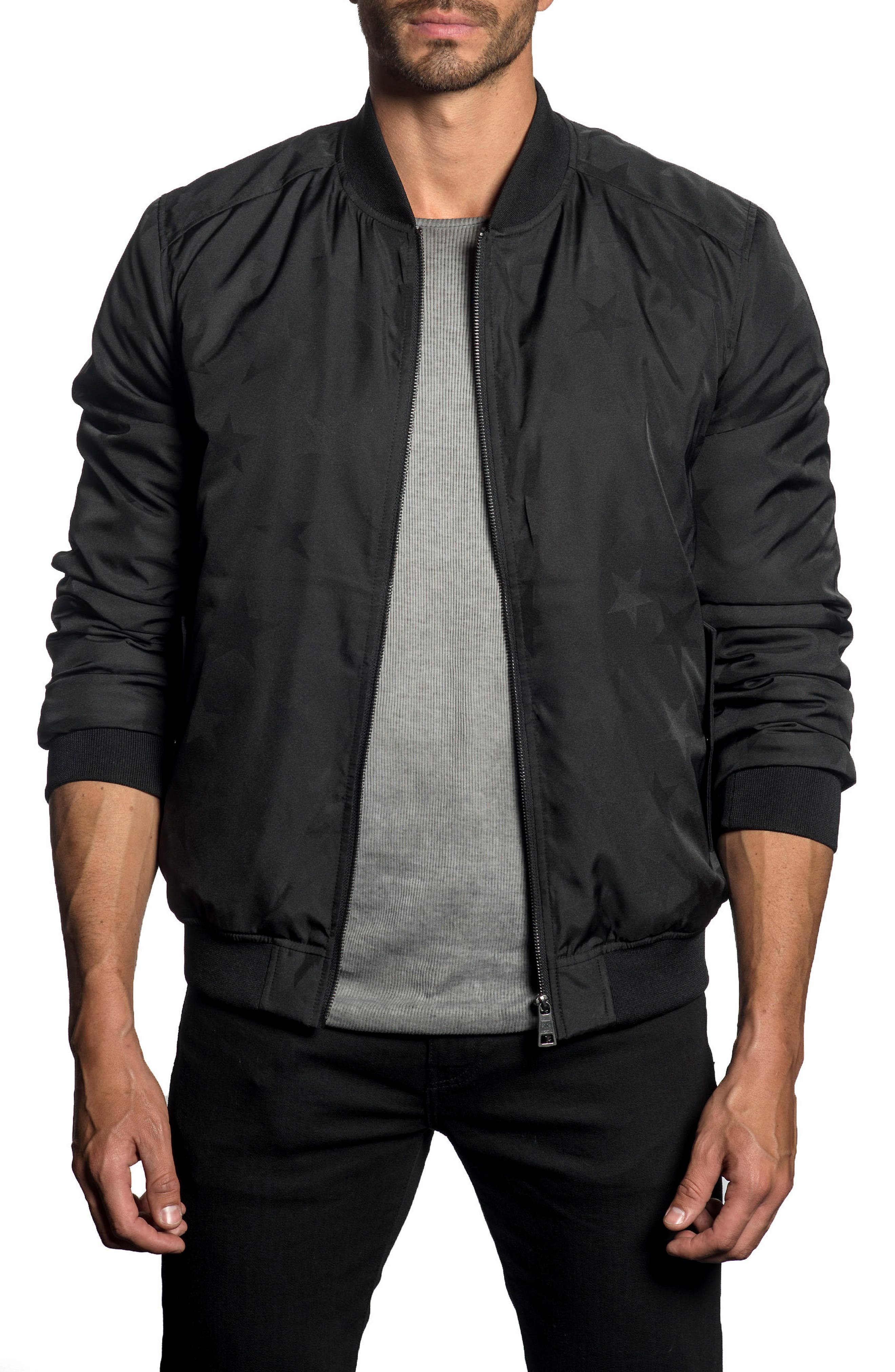 Jared Lang Star Print Bomber Jacket