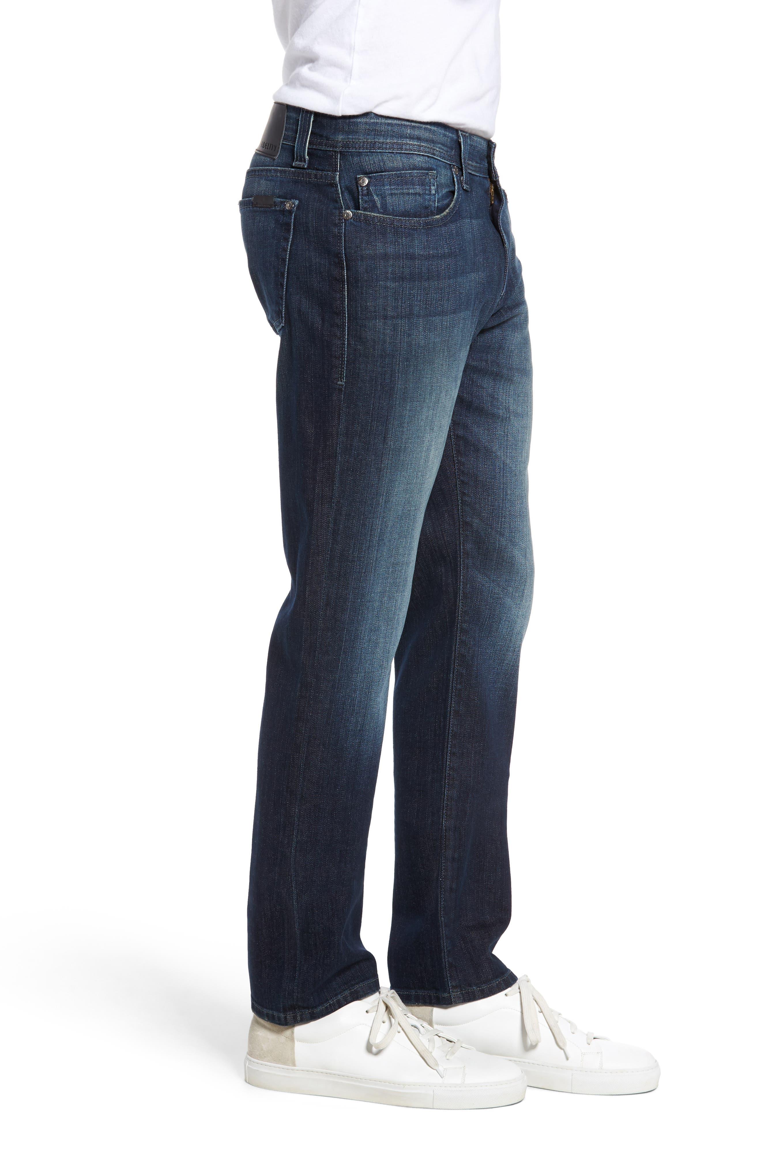 Alternate Image 3  - Fidelity Denim Jimmy Slim Straight Leg Jeans (Militia Blue)