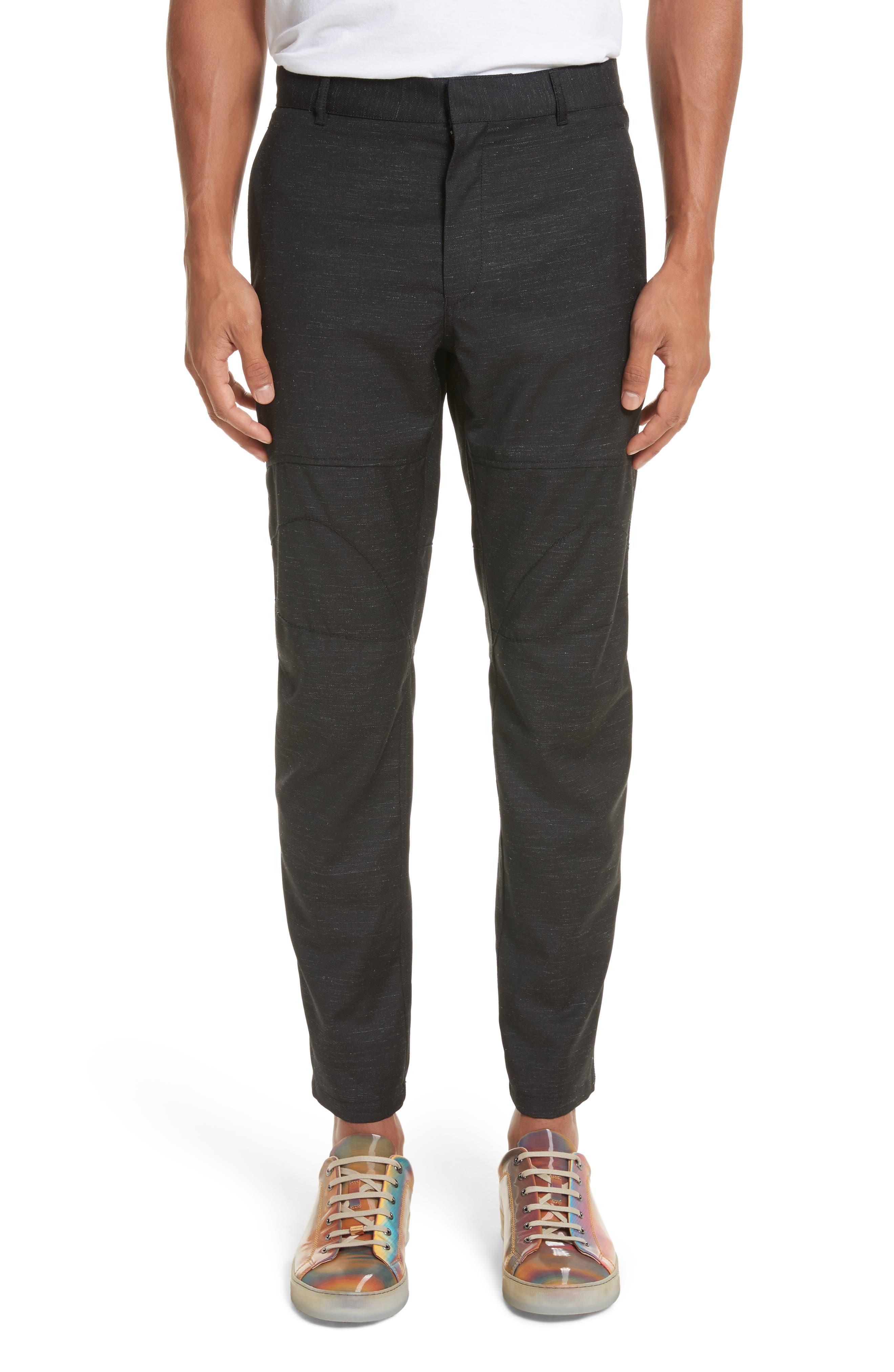 Biker Trousers,                         Main,                         color, Black