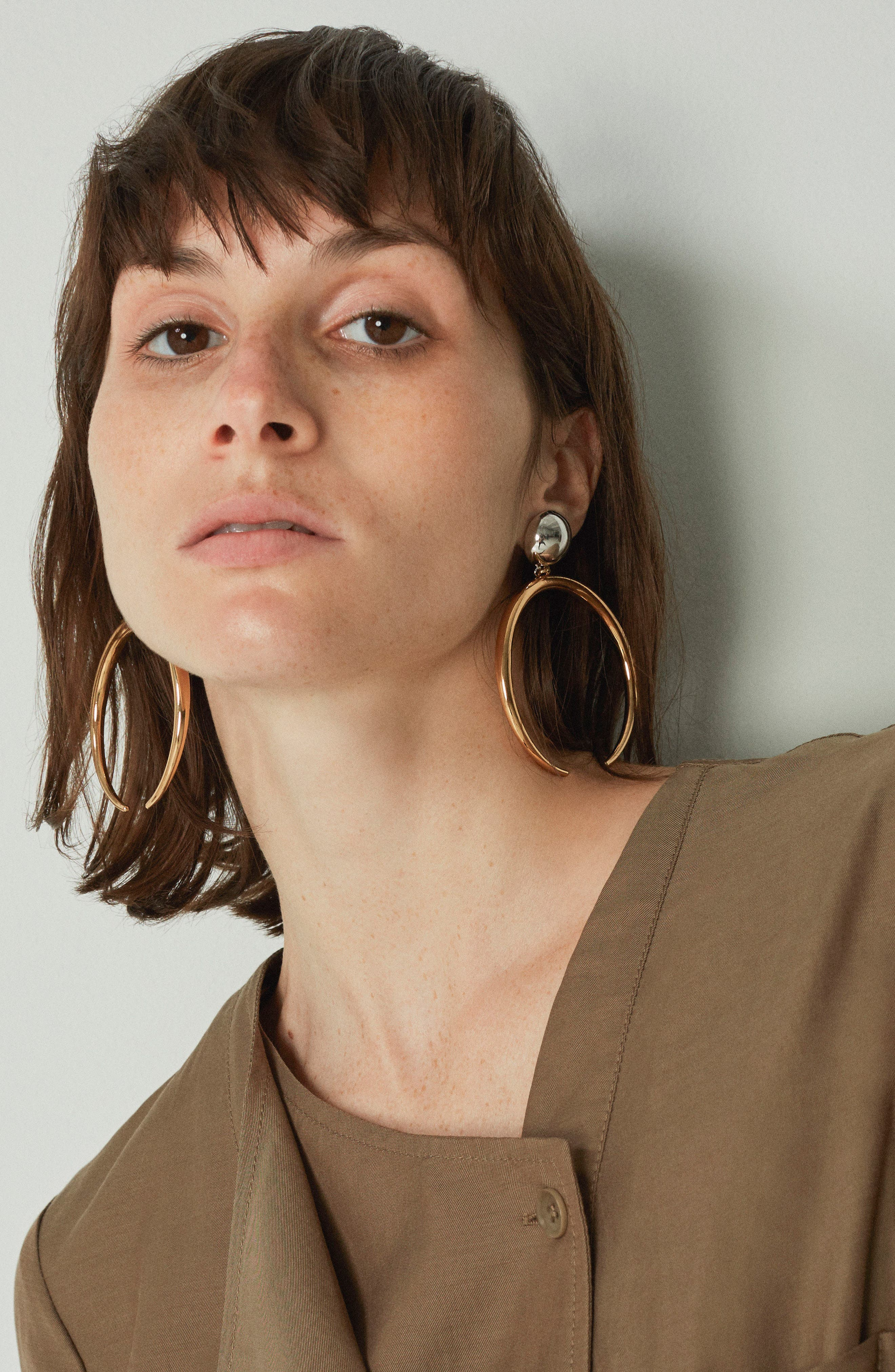 The Factory Drop Earrings,                             Alternate thumbnail 2, color,                             Two Tone
