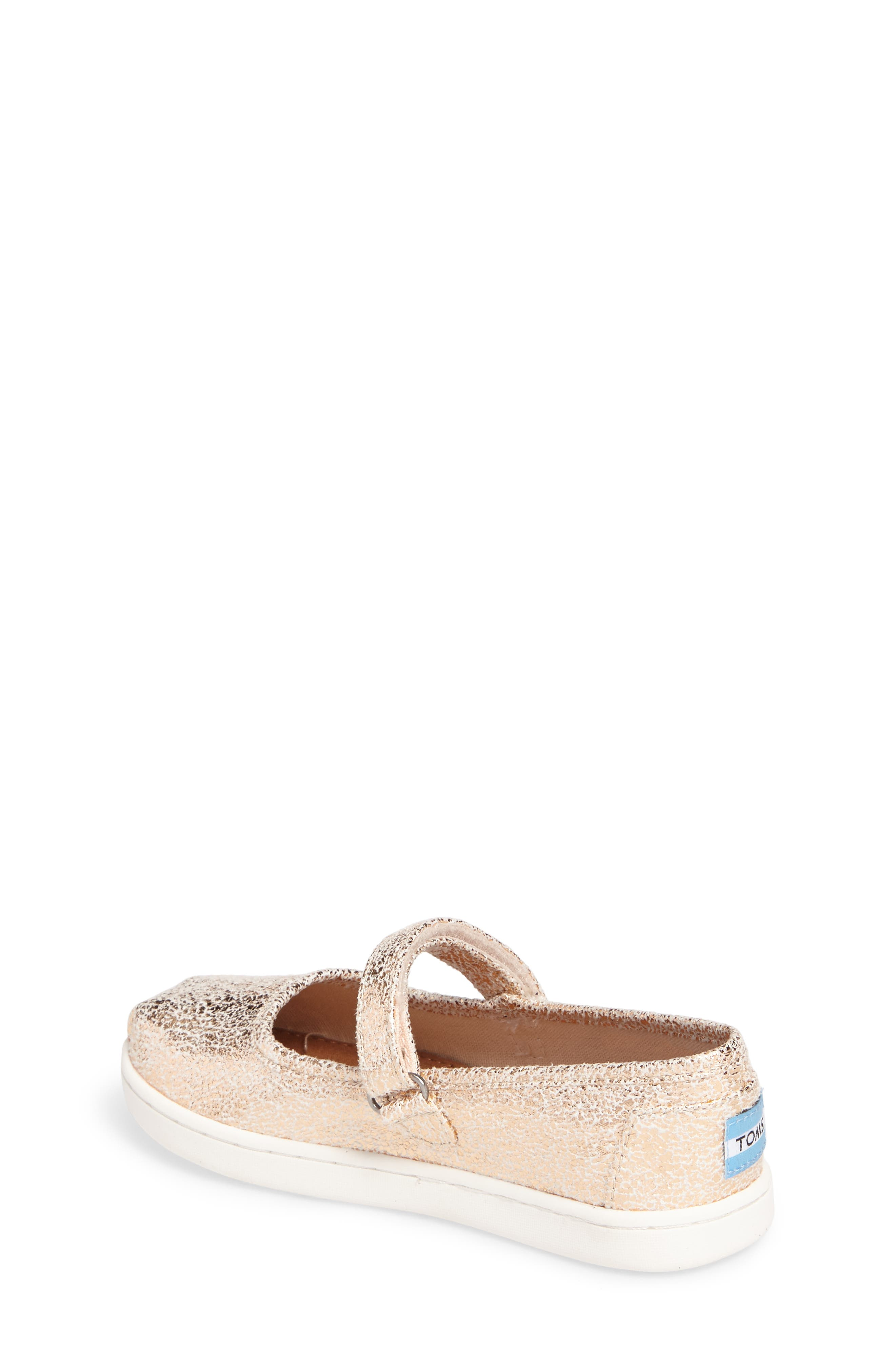 Alternate Image 2  - TOMS Tiny Mary Jane Flat (Baby, Walker & Toddler)