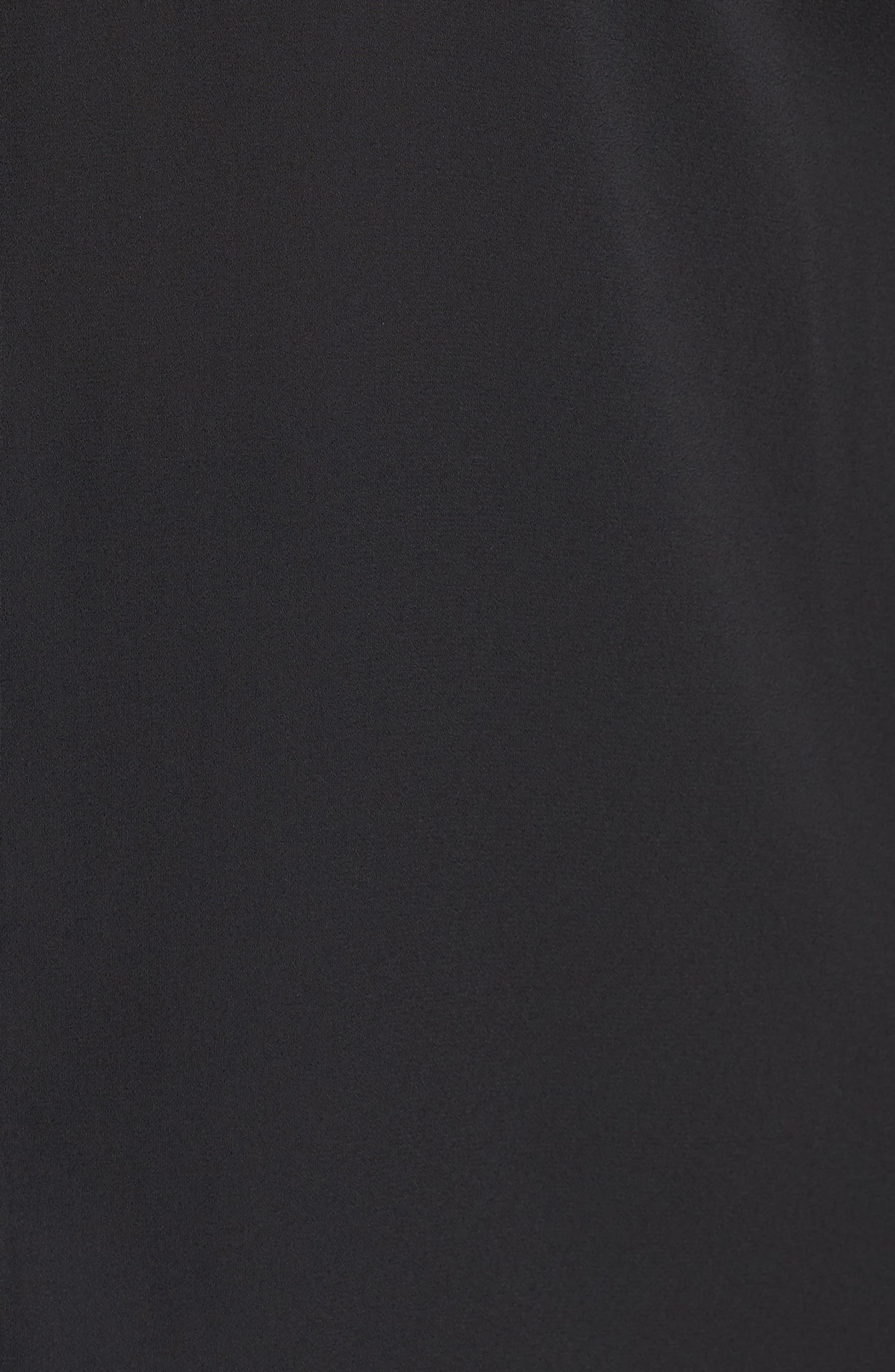 Tie Sleeve Blouse,                             Alternate thumbnail 5, color,                             Black