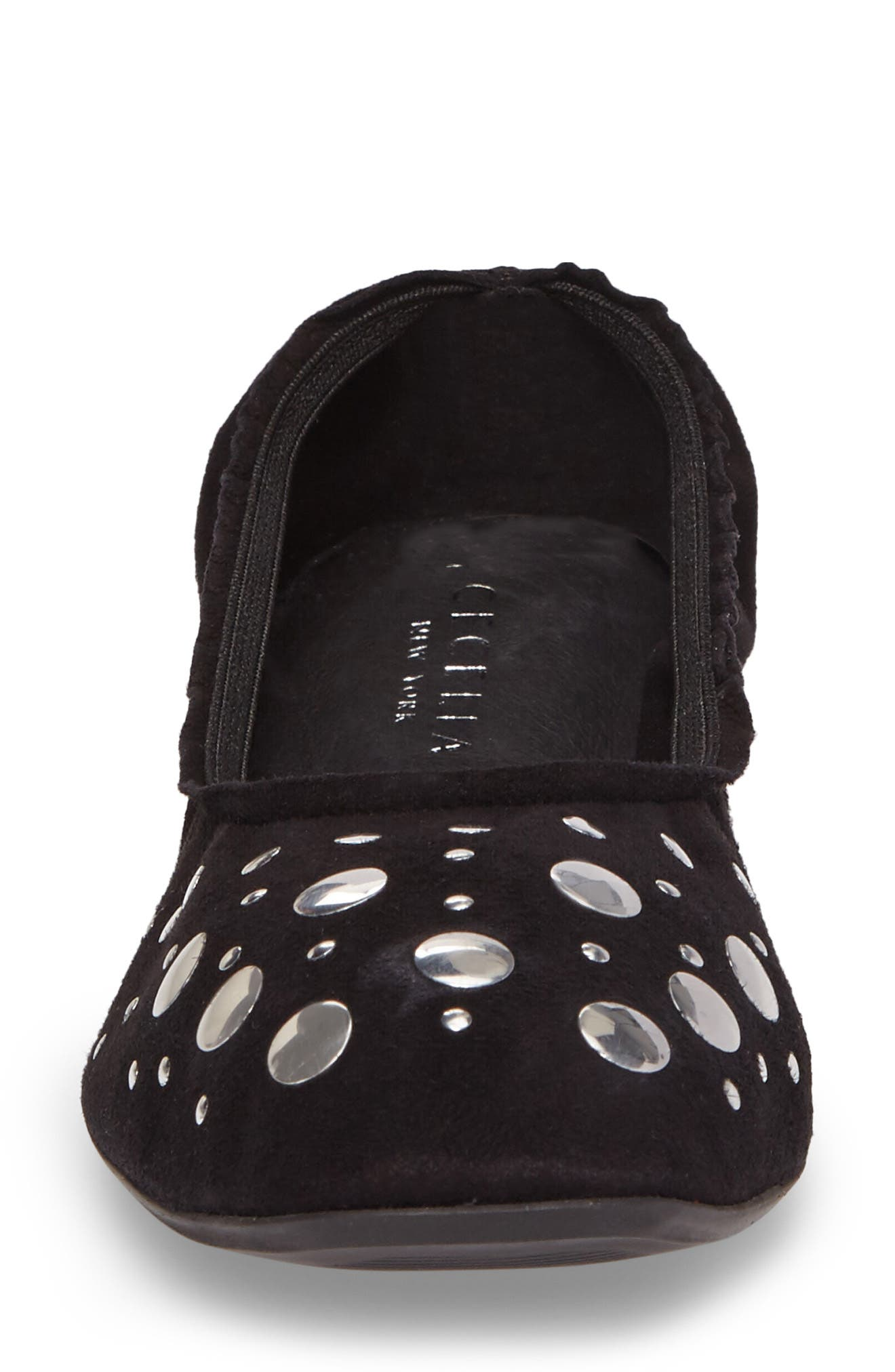 Jacob Ballet Flat,                             Alternate thumbnail 4, color,                             Black Leather
