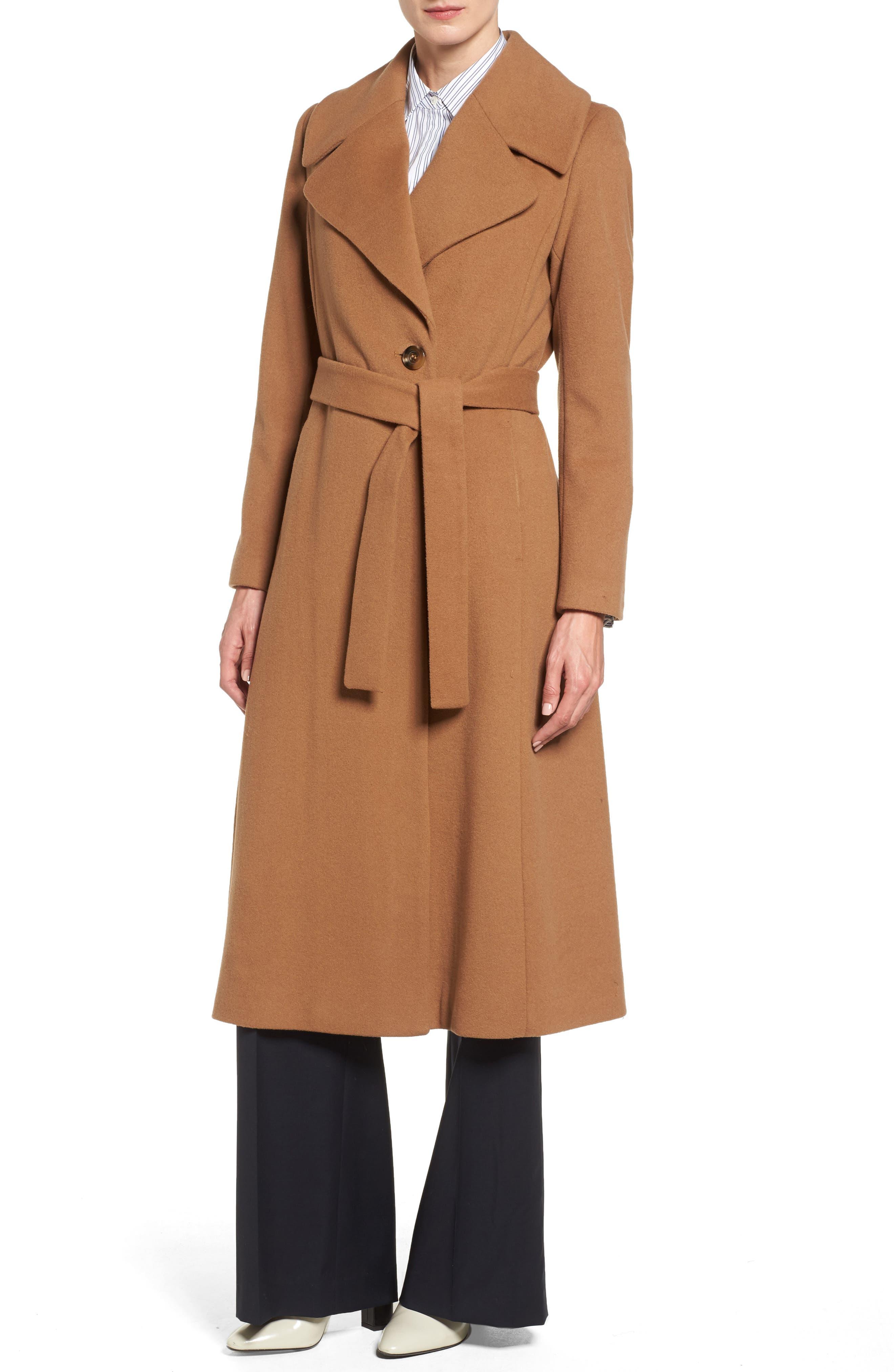 Wool coat camel ladies