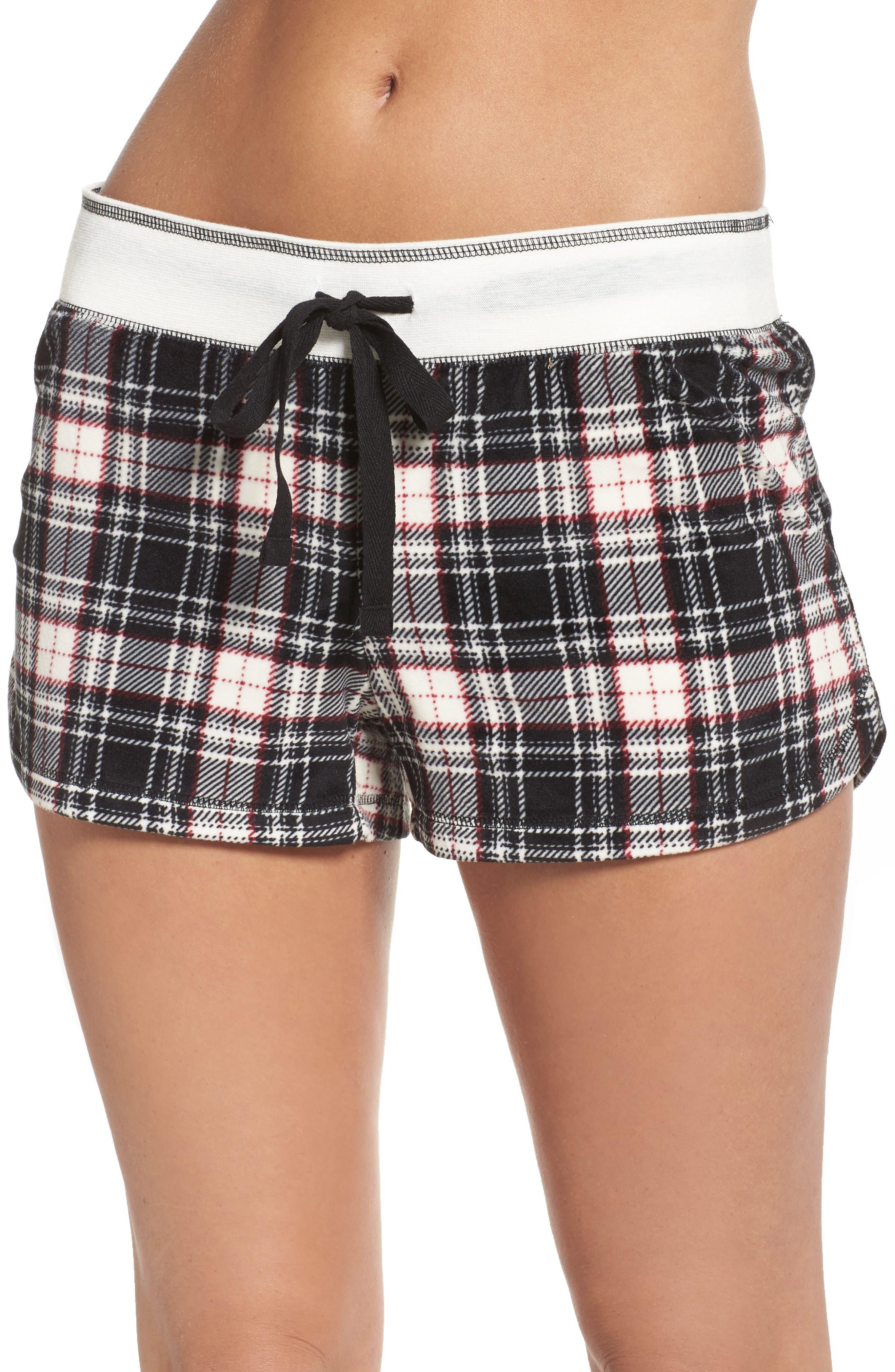 Velour Shorts,                         Main,                         color, Black