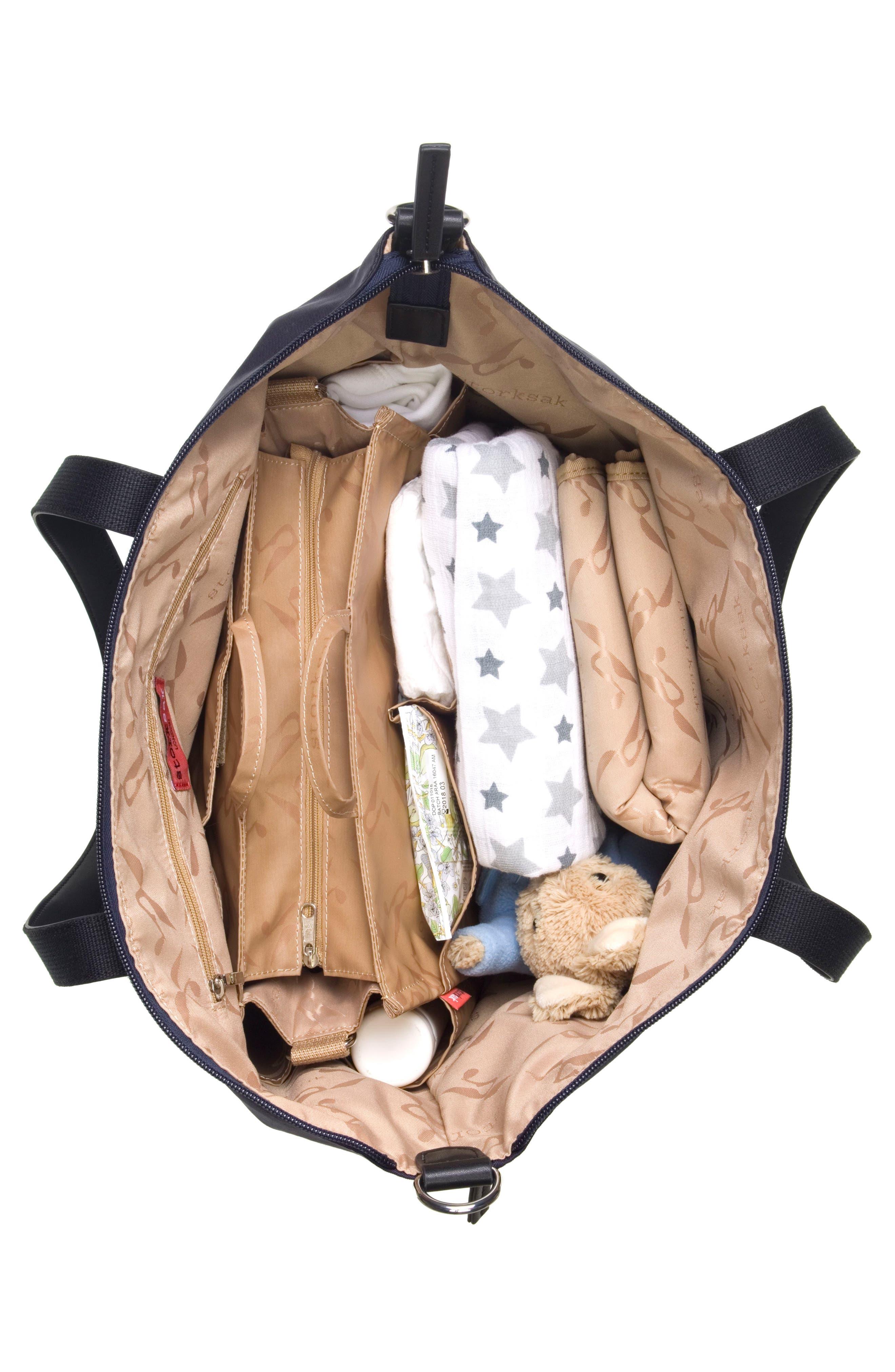 Noa Luxe Diaper Bag,                             Alternate thumbnail 4, color,                             Midnight Blue