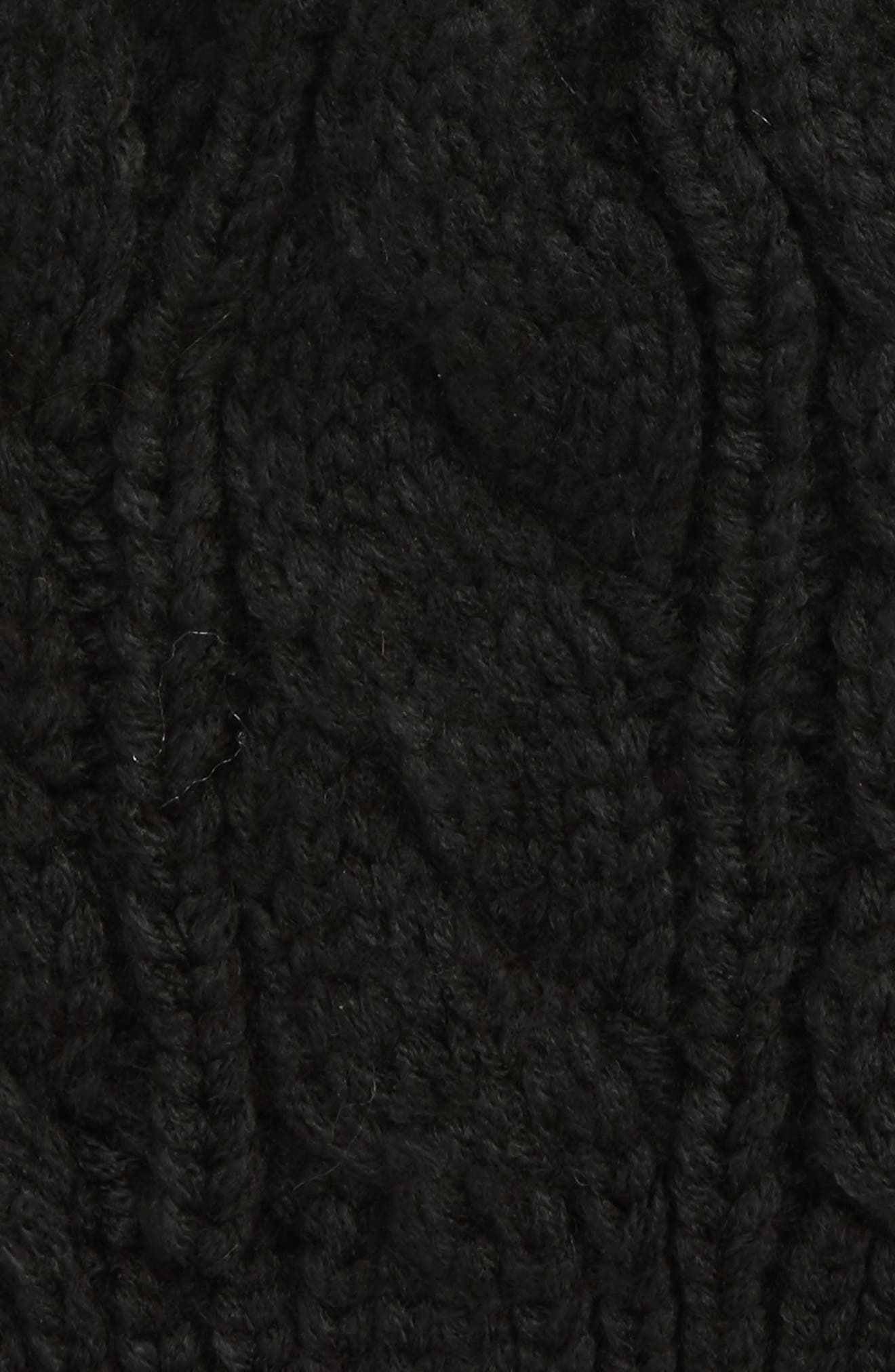 Alternate Image 2  - The North Face Triple Cable Beanie with Faux Fur Pom (Big Girls)