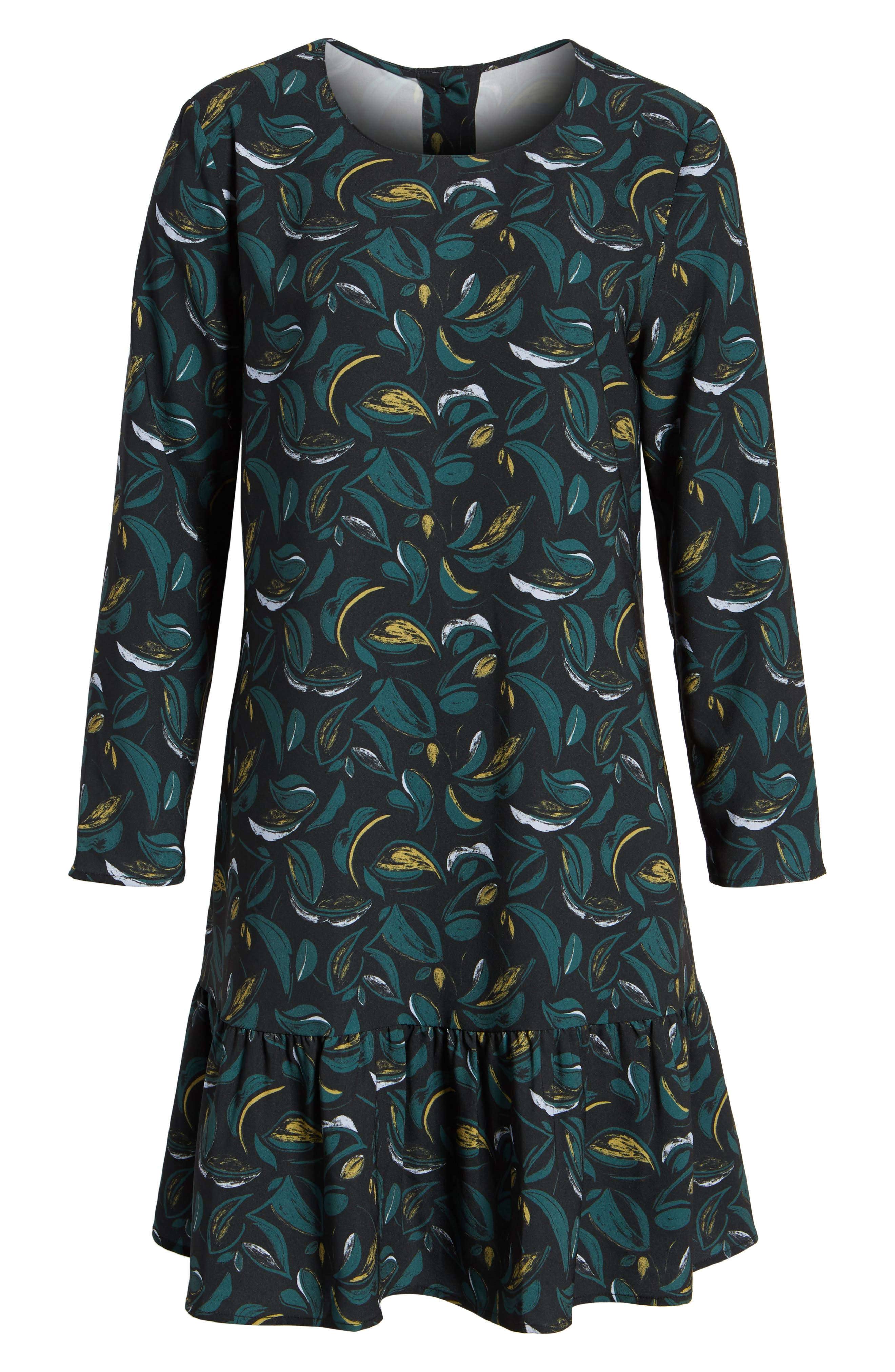 Alternate Image 6  - Halogen® Button Back Ruffle Hem Dress (Regular & Petite)