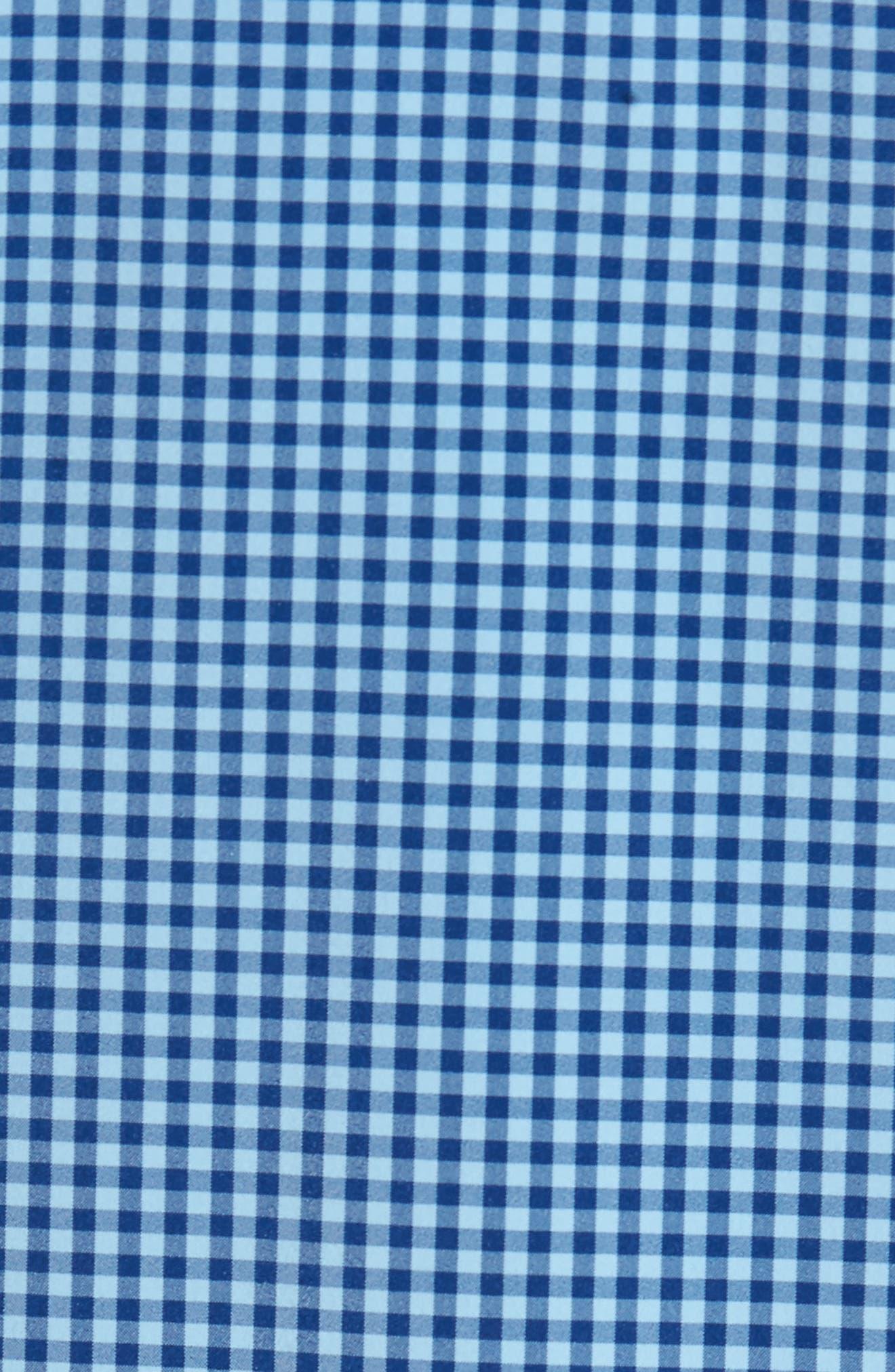 Brighton Blue Check Sport Shirt,                             Alternate thumbnail 5, color,                             Blue