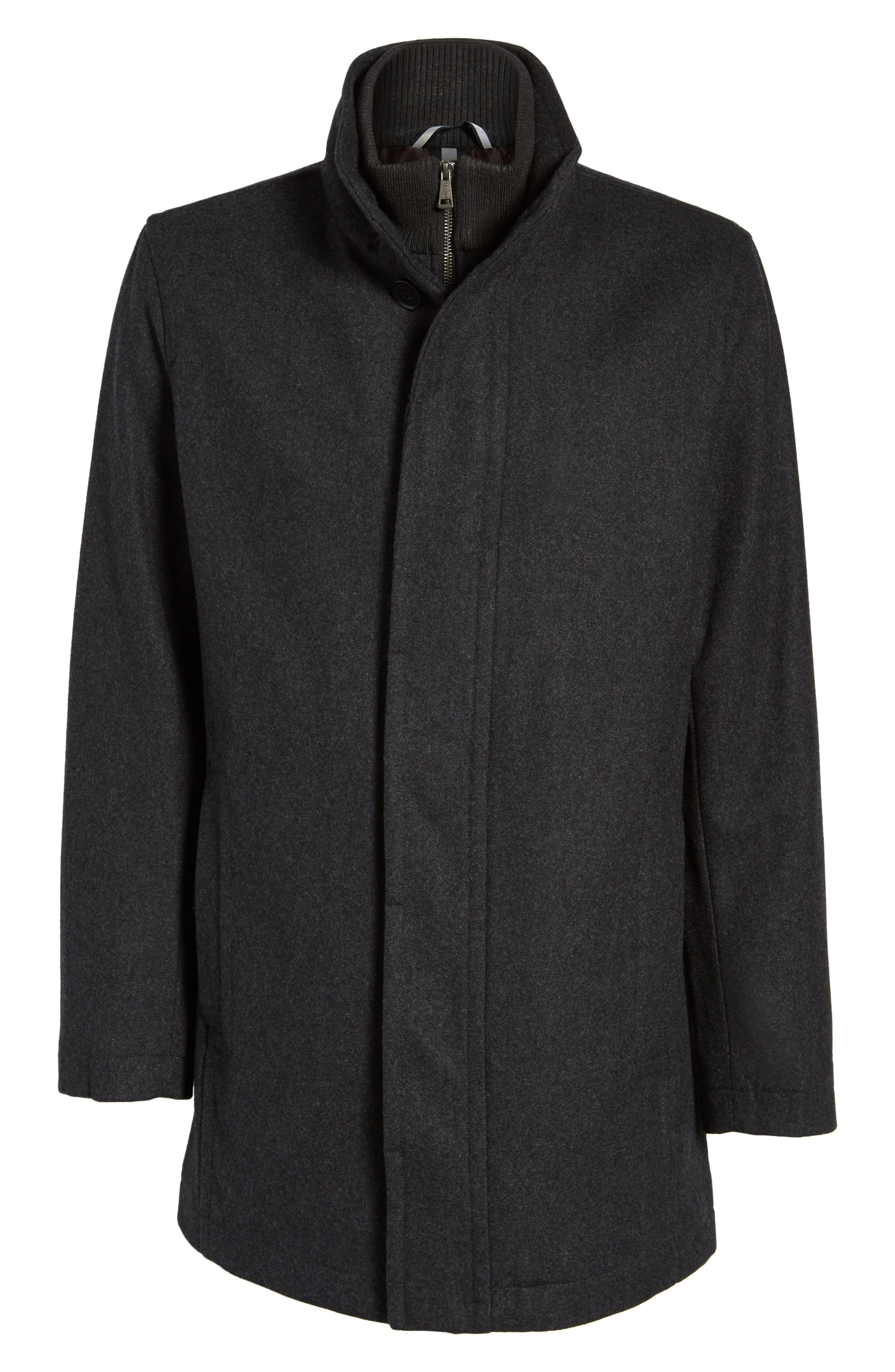 Alternate Image 5  - Cole Haan Melton Wool Blend Coat