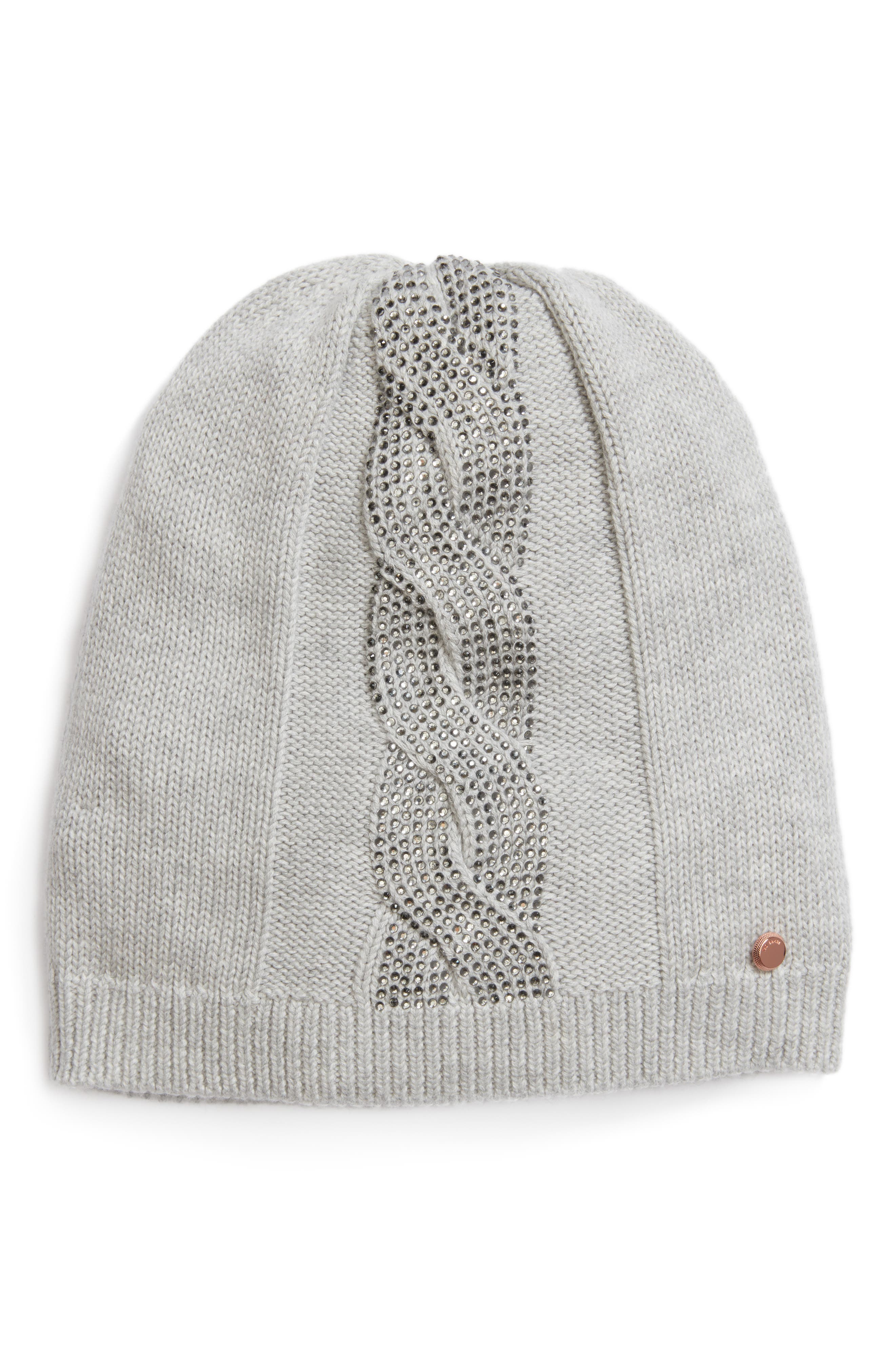 Ted Baker London Embellished Slouchy Beanie