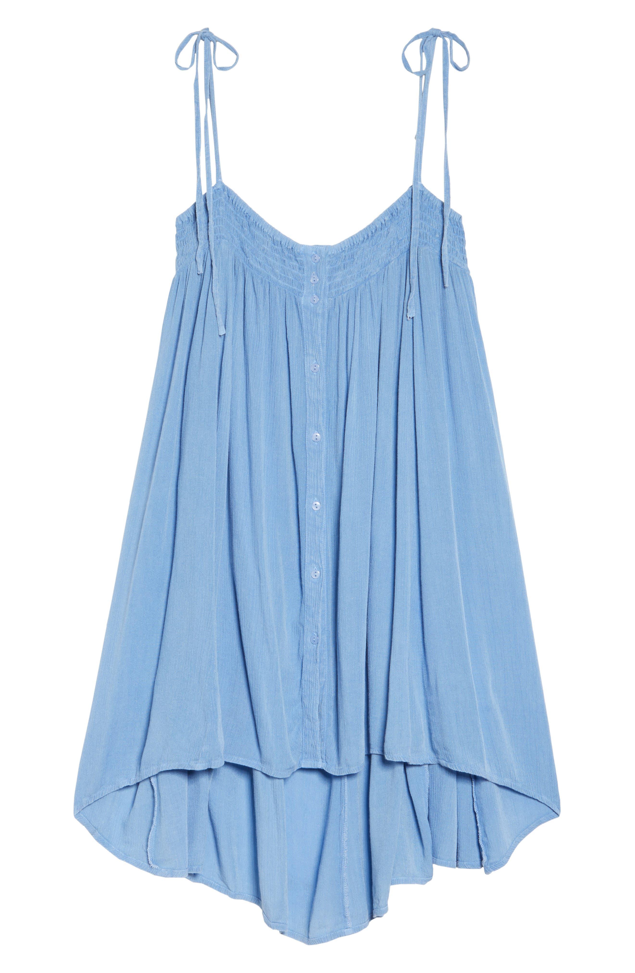 Oliva Cover-Up Dress,                             Alternate thumbnail 6, color,                             Denim