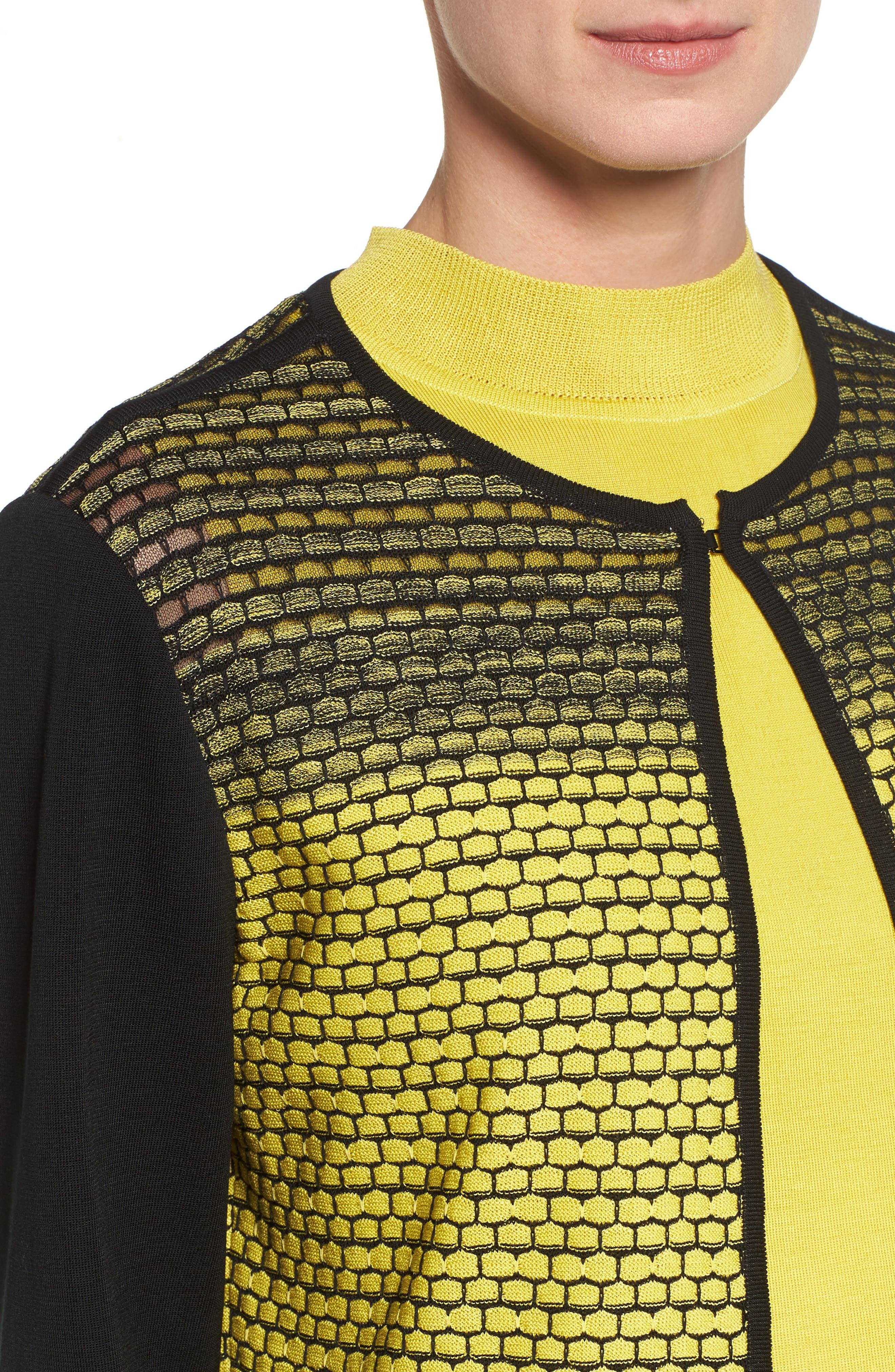 Alternate Image 4  - Ming Wang Colorblock Knit Jacket