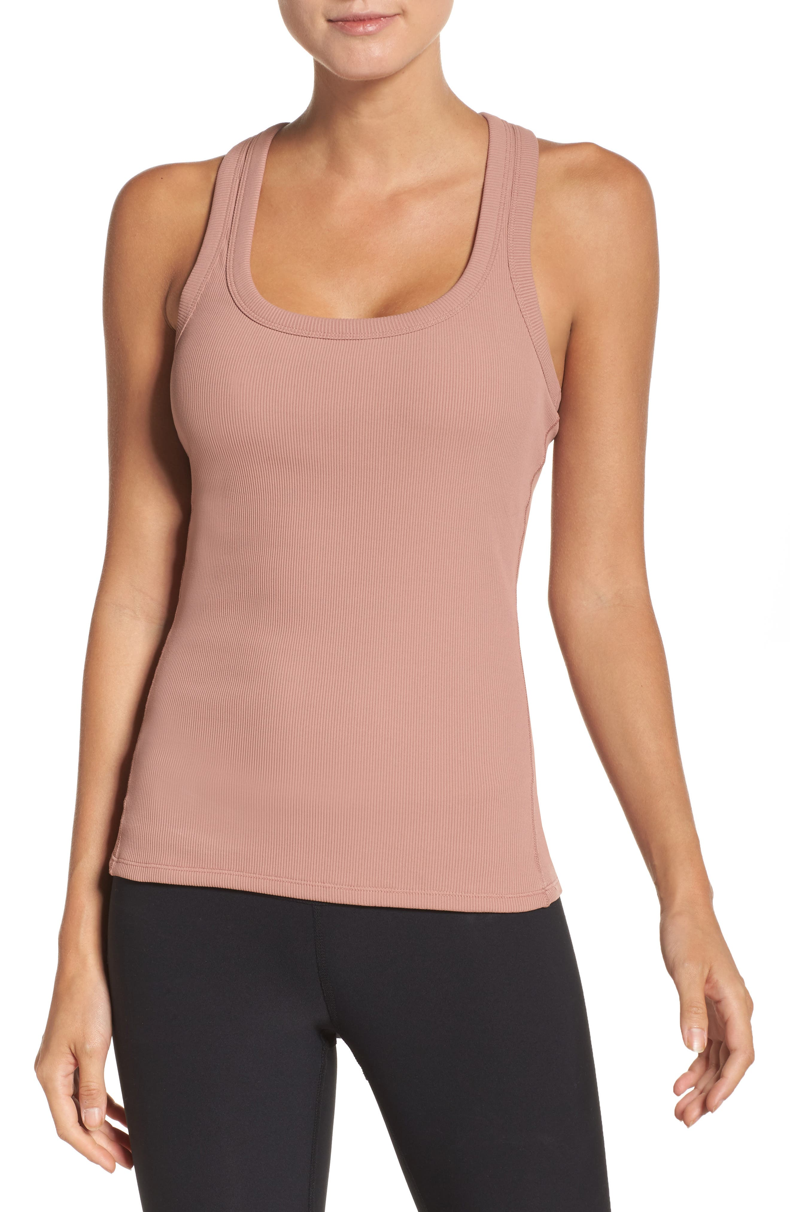 Main Image - Alo Support Ribbed Racerback Tank