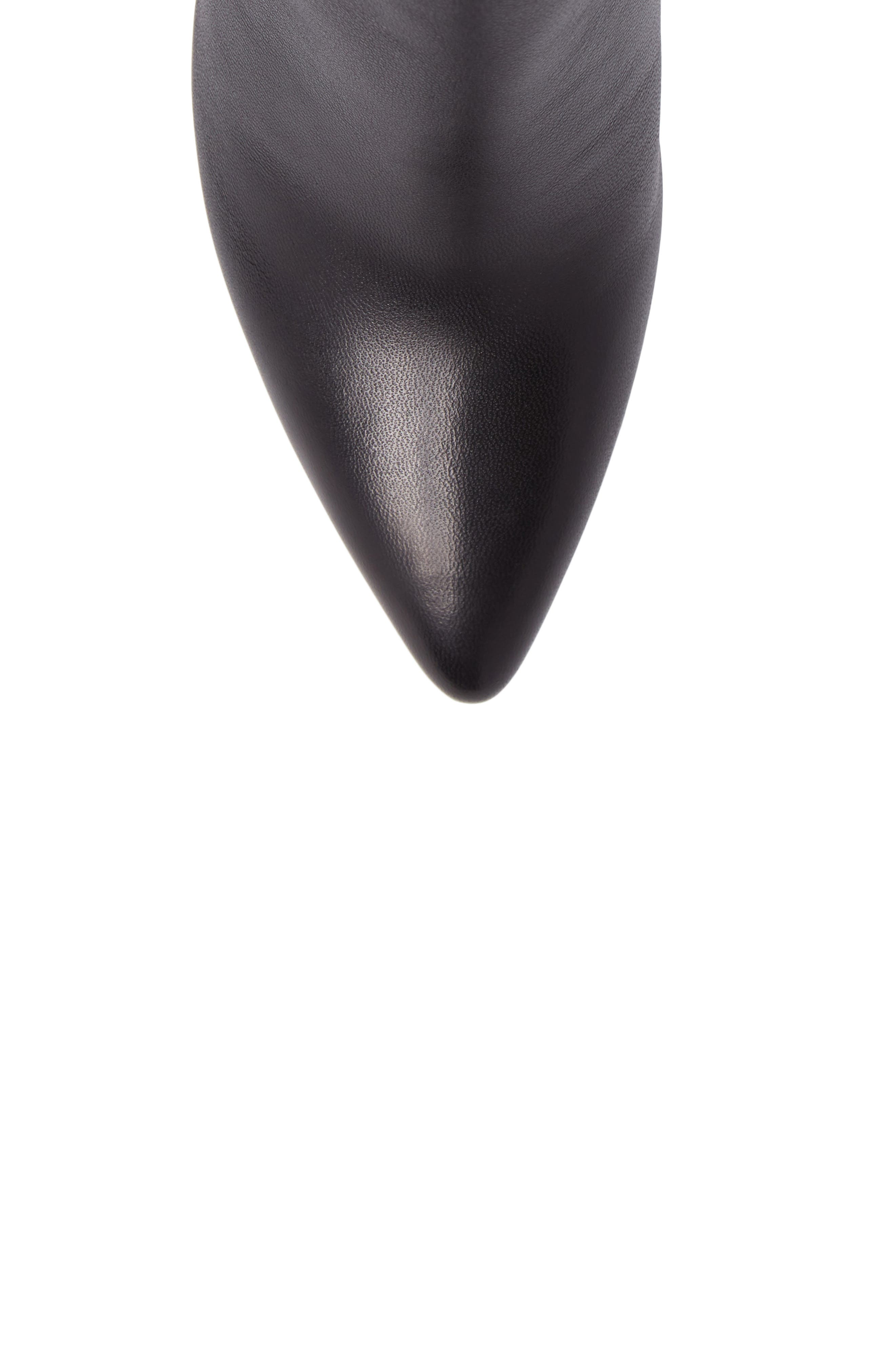 Pure Pointy Toe Bootie,                             Alternate thumbnail 5, color,                             Black Nappa