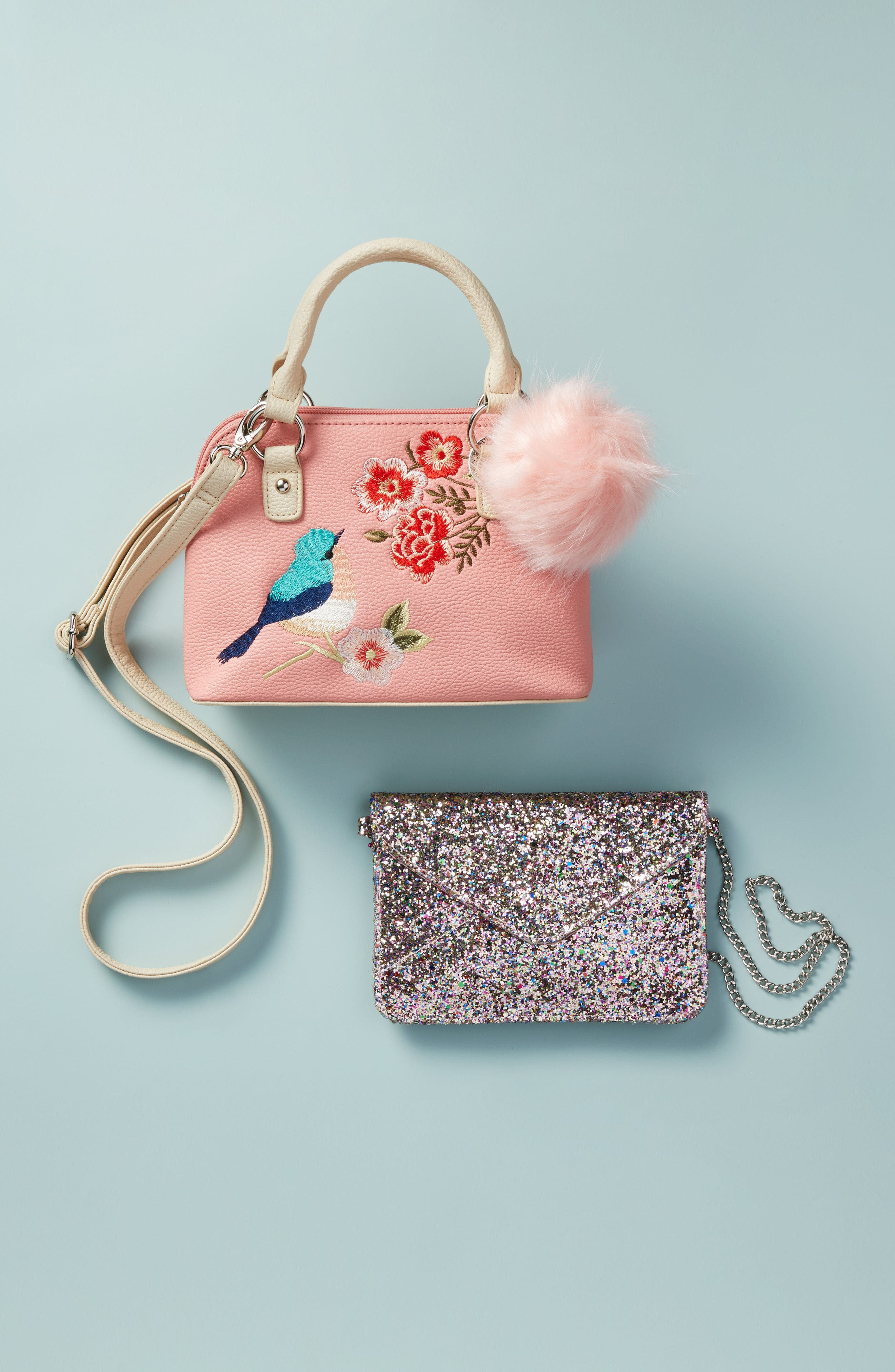 Embroidered Handbag,                             Alternate thumbnail 6, color,