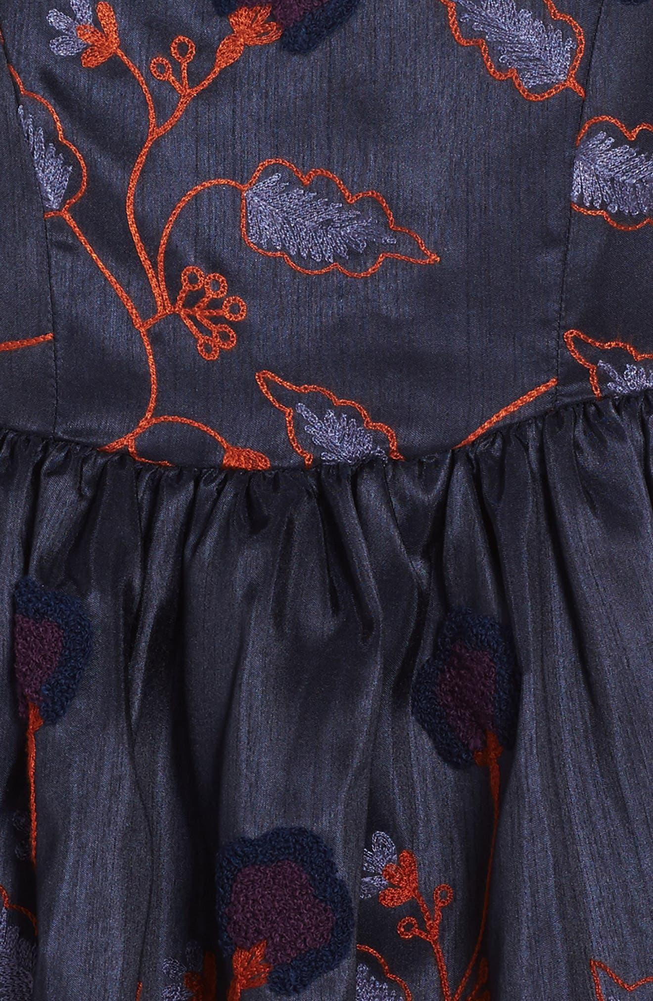 Alternate Image 3  - Frais Embroidered Floral Dress (Toddler Girls, Little Girls & Big Girls)