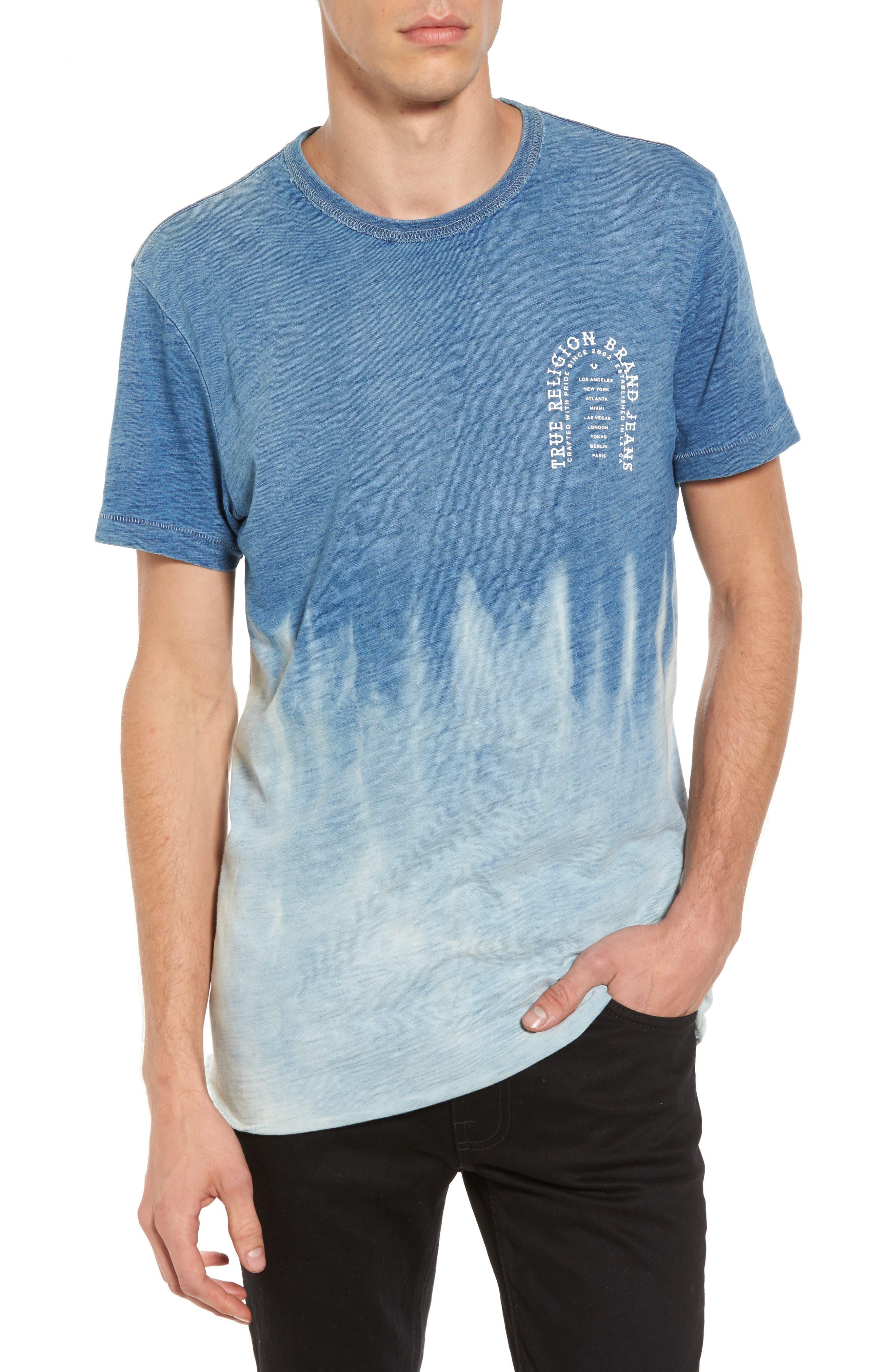 Arch T-Shirt,                         Main,                         color, Indigo