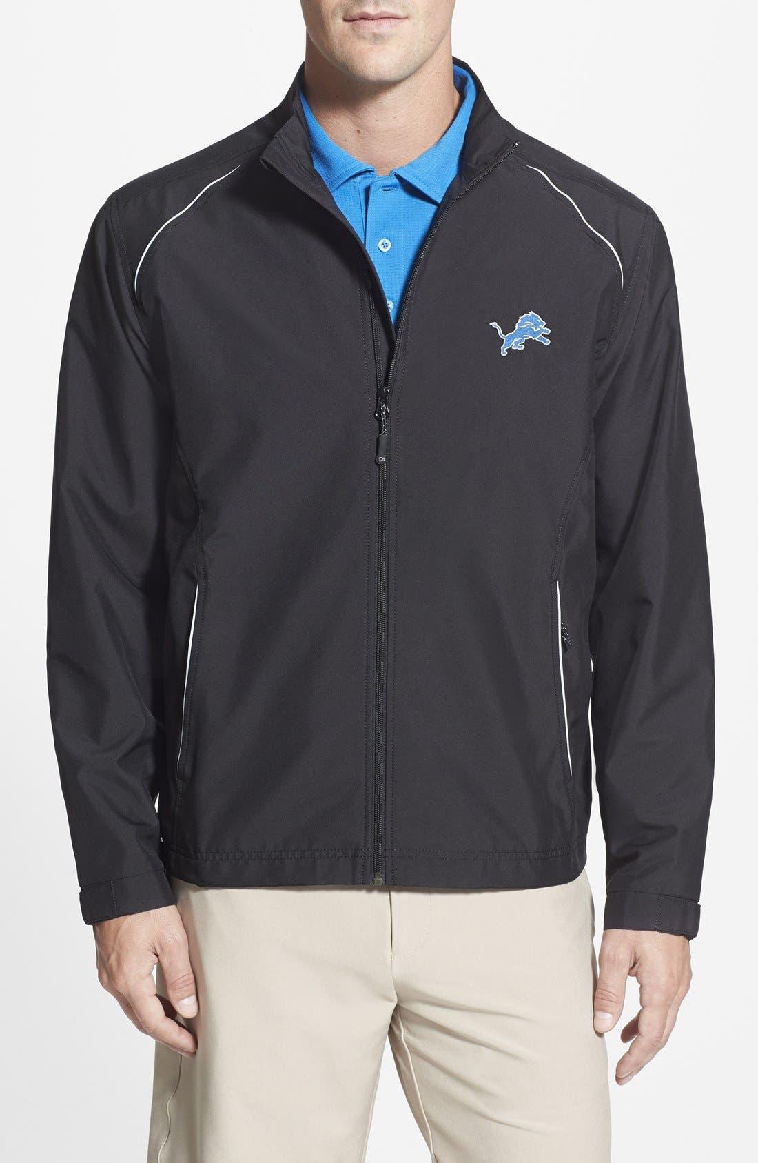 Detroit Lions - Beacon WeatherTec Wind & Water Resistant Jacket,                         Main,                         color, Black