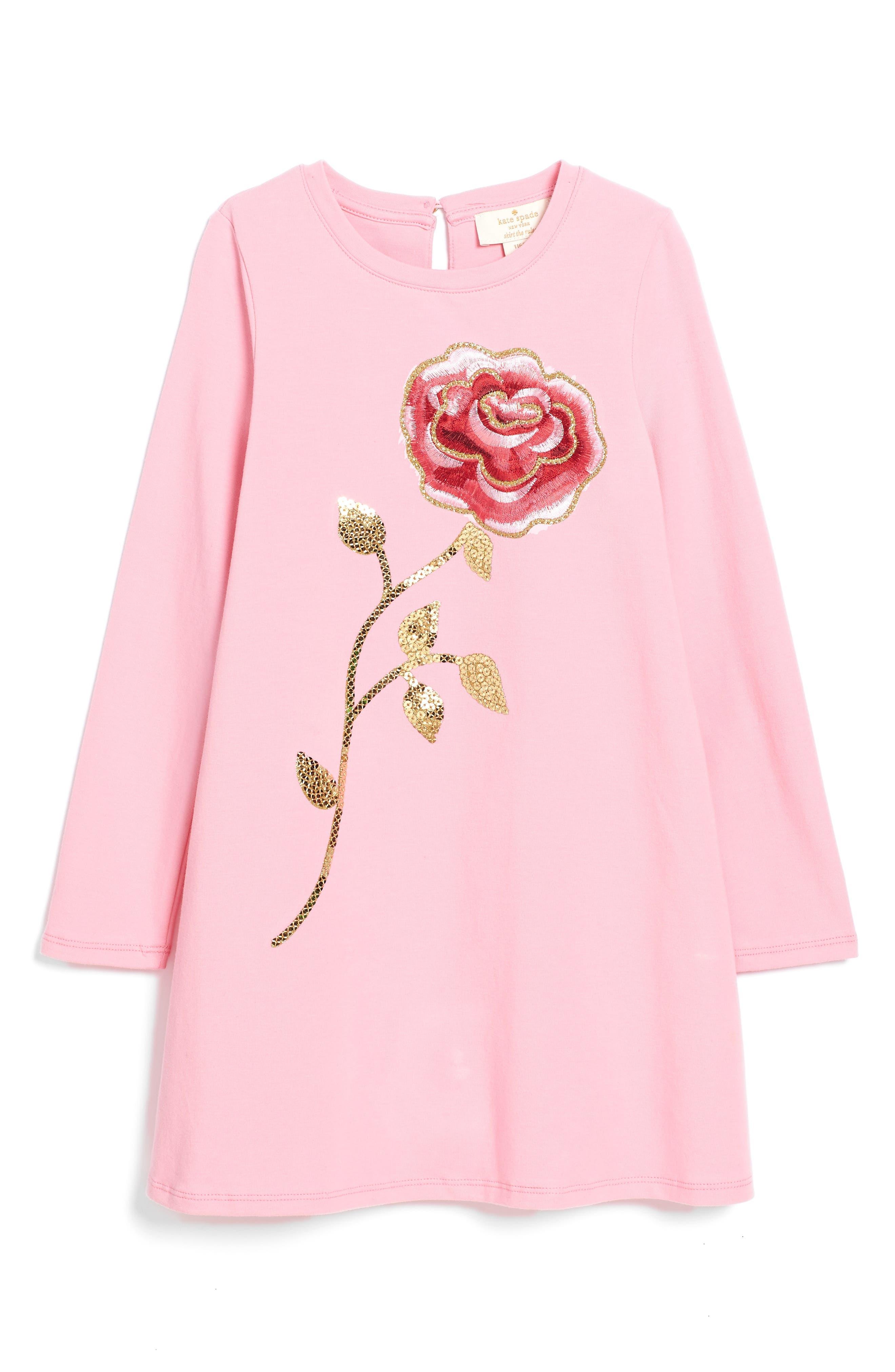 Alternate Image 1 Selected - kate spade new york rose dress (Big Girls)