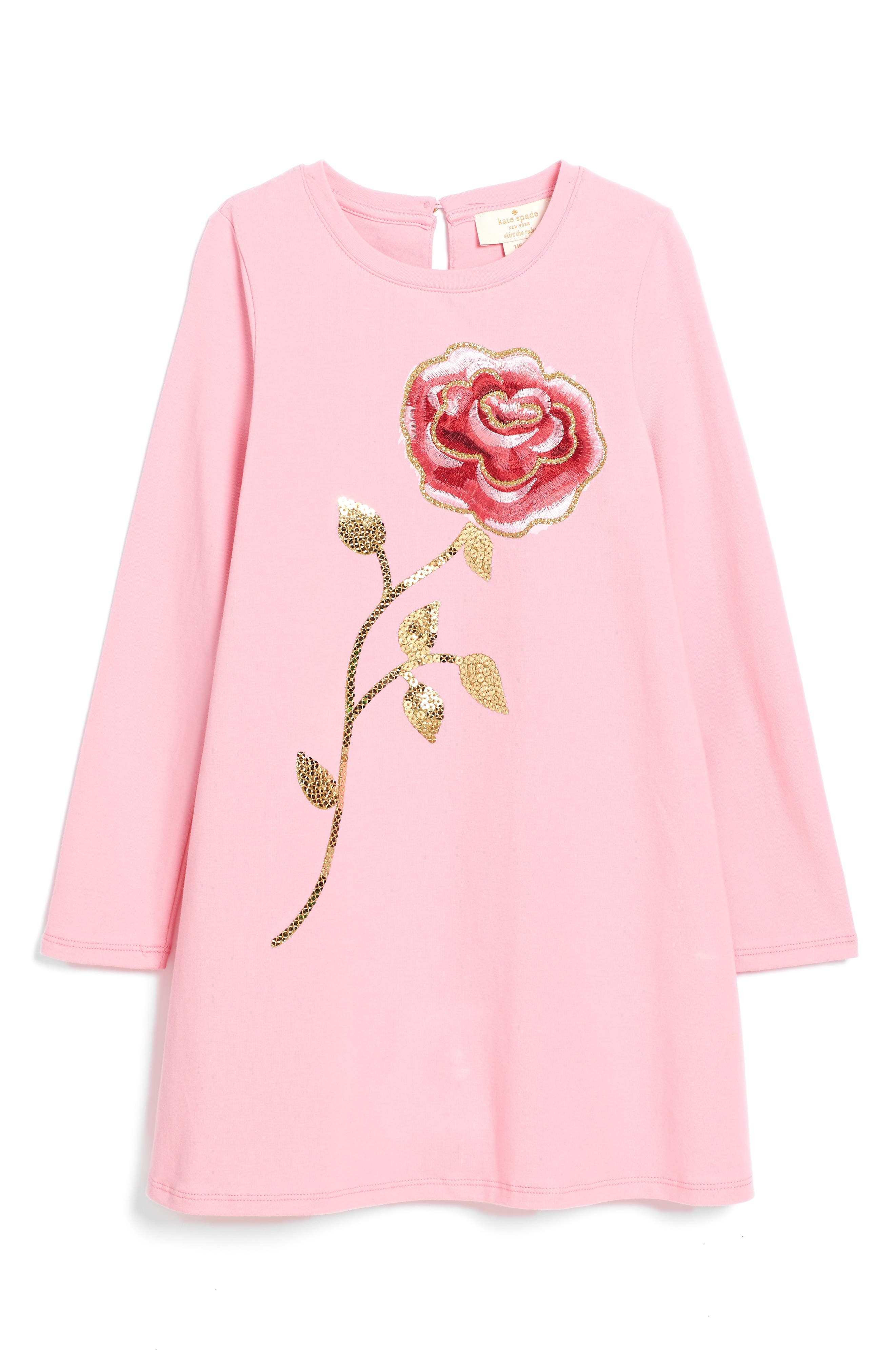 Main Image - kate spade new york rose dress (Big Girls)