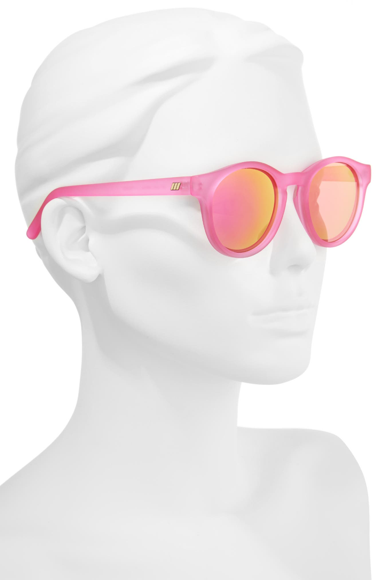 Hey Macarena 51mm Round Sunglasses,                             Alternate thumbnail 2, color,                             Matte Magenta