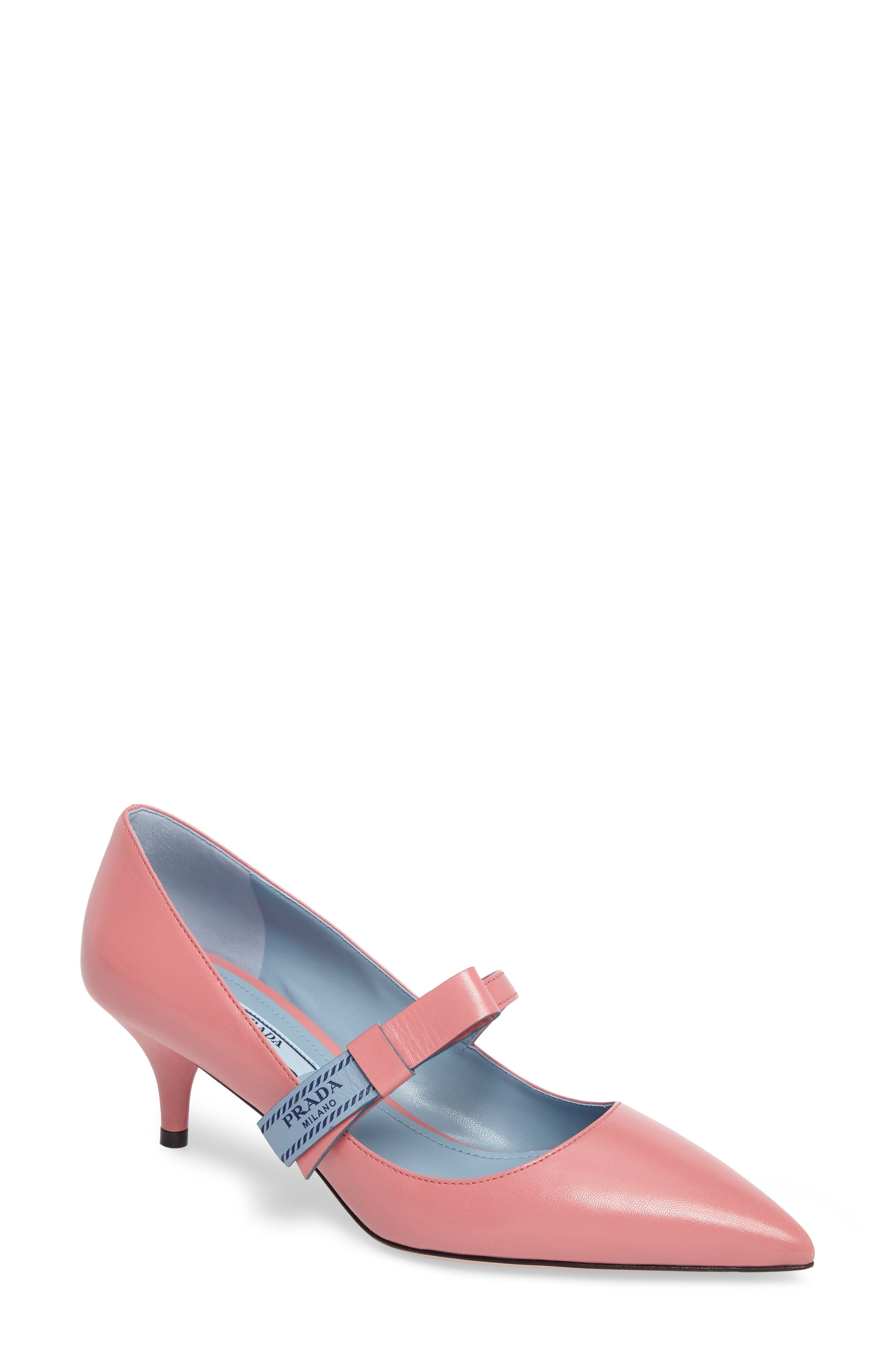 Prada Logo Bow Pump (Women)