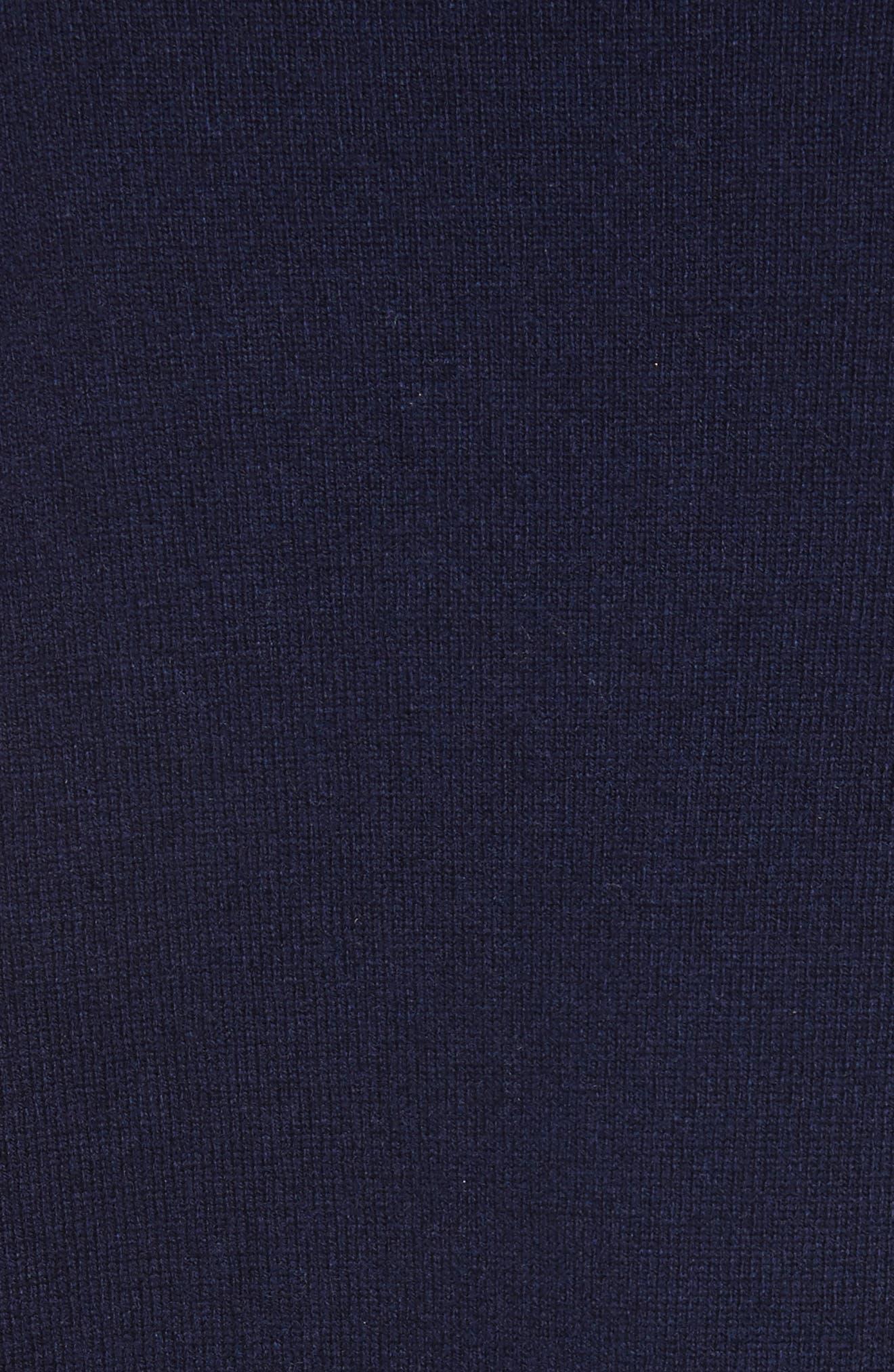 night sky mixed media sweater,                             Alternate thumbnail 5, color,                             Rich Navy
