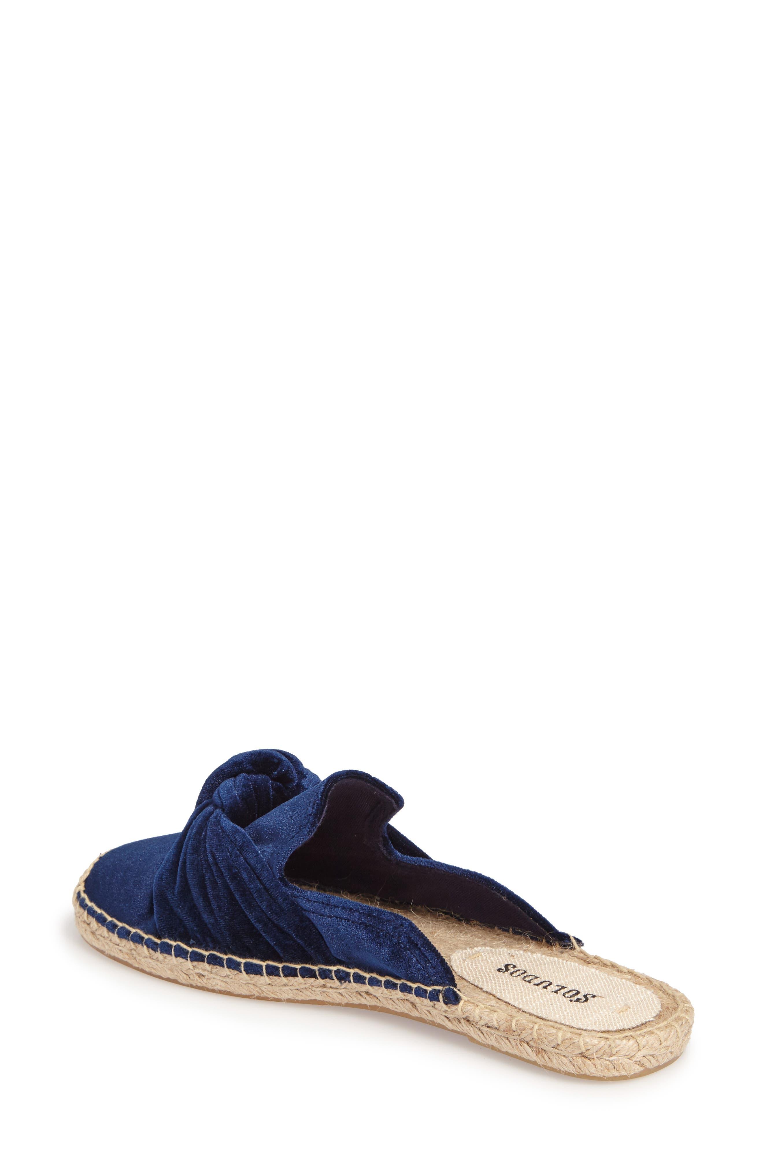 Alternate Image 2  - Soludos Knotted Velvet Loafer Mule (Women)