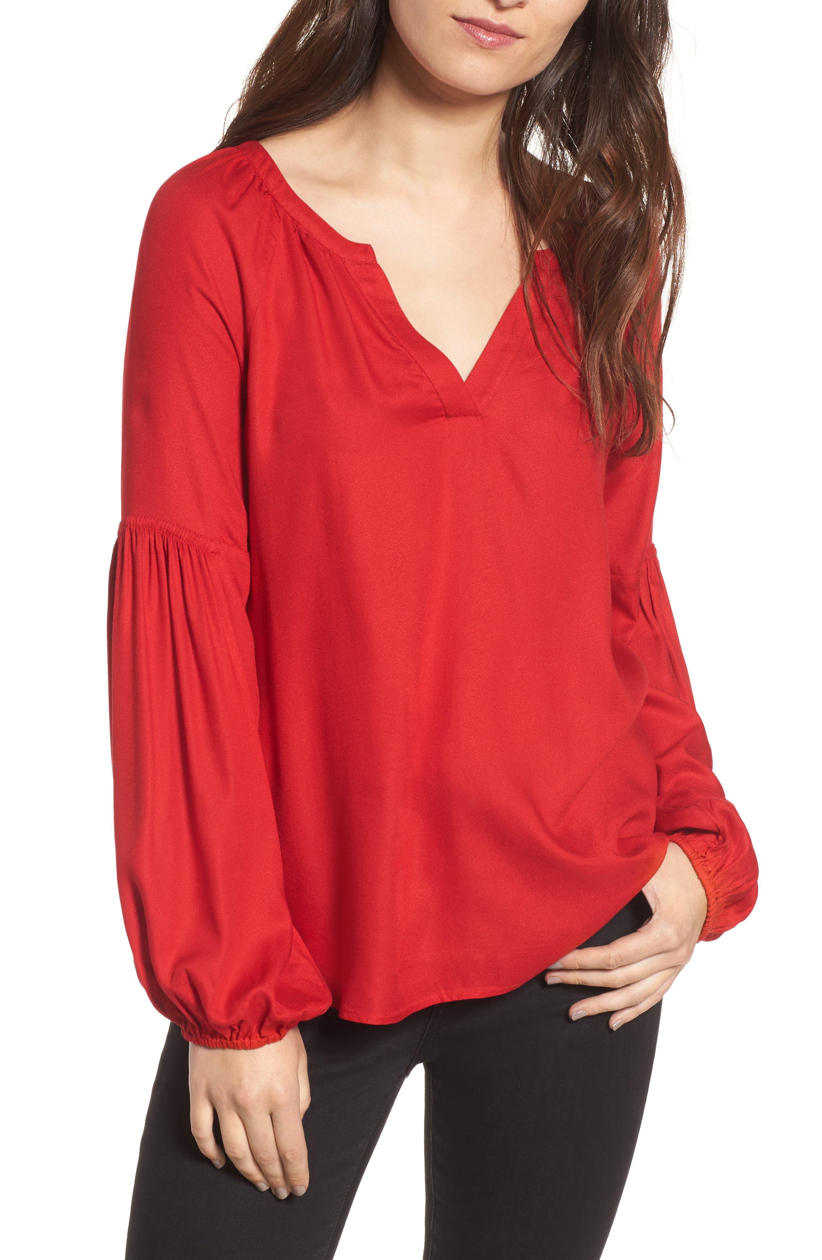 Alternate Image 1 Selected - Hinge Blouson Sleeve Top