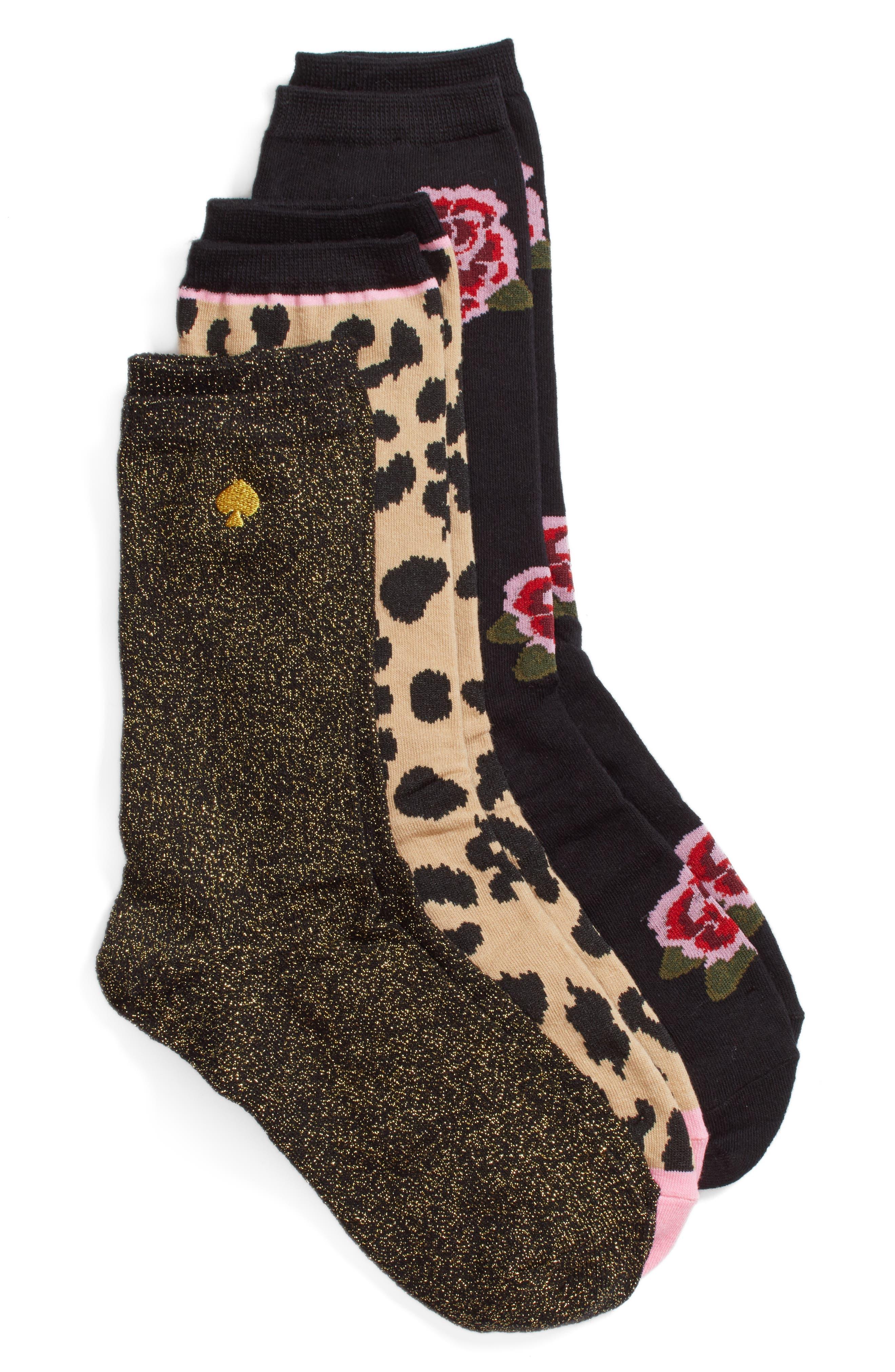 kate spade new york rose 3-pack trouser socks