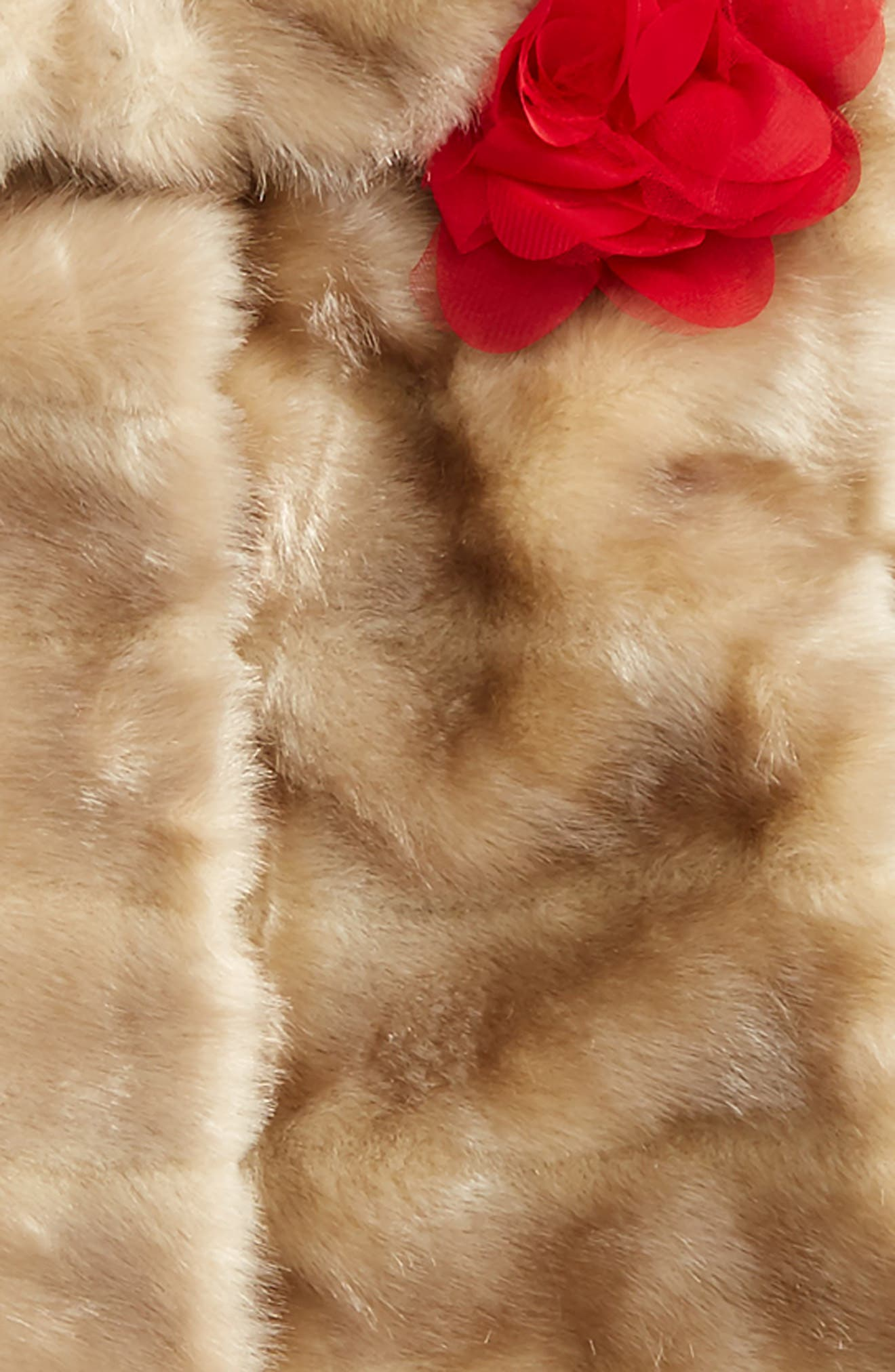 Alternate Image 2  - kate spade new york faux mink fur coat (Big Girls)
