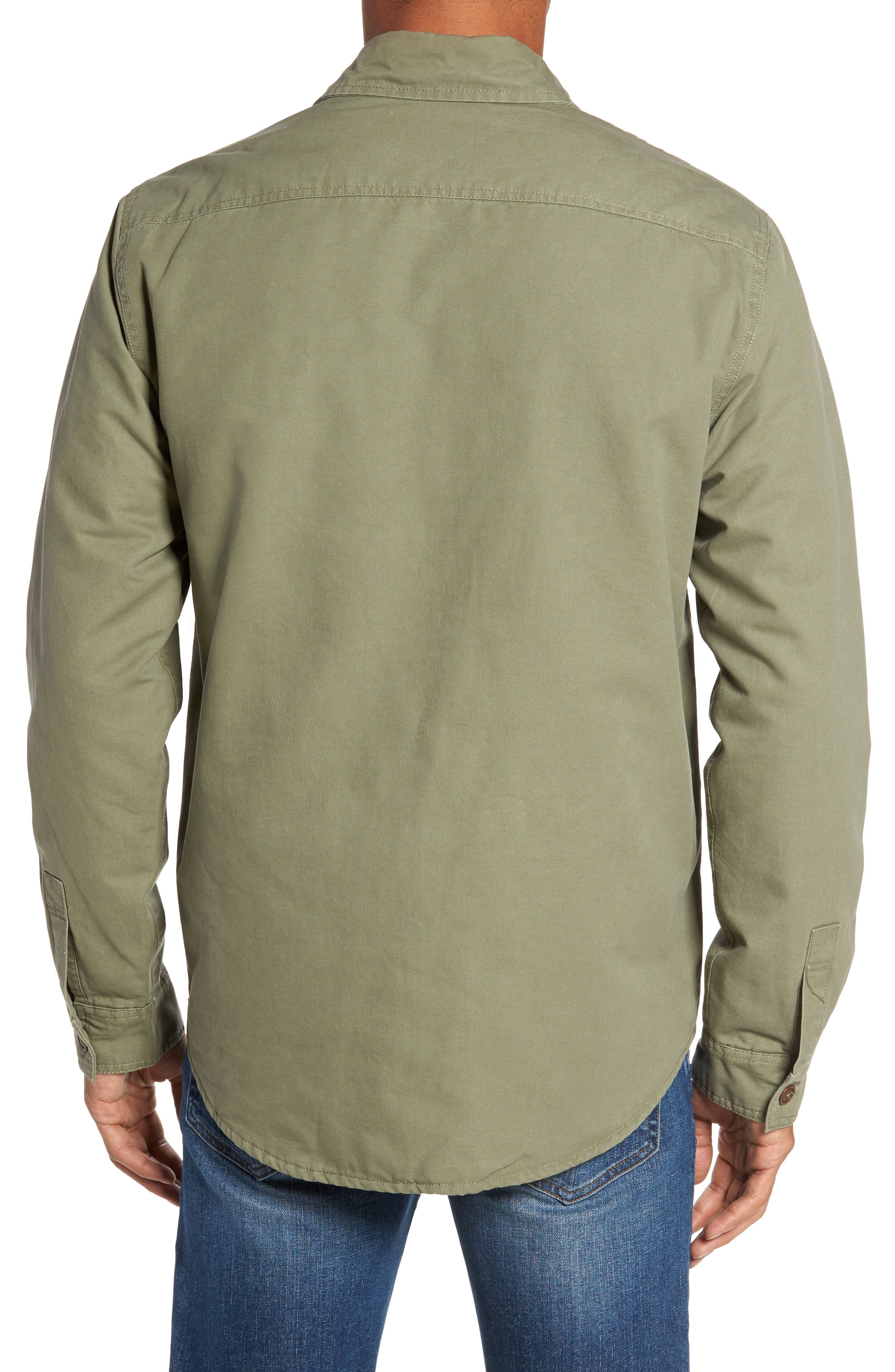 Alternate Image 2  - Faherty Blanket Lined Shirt Jacket
