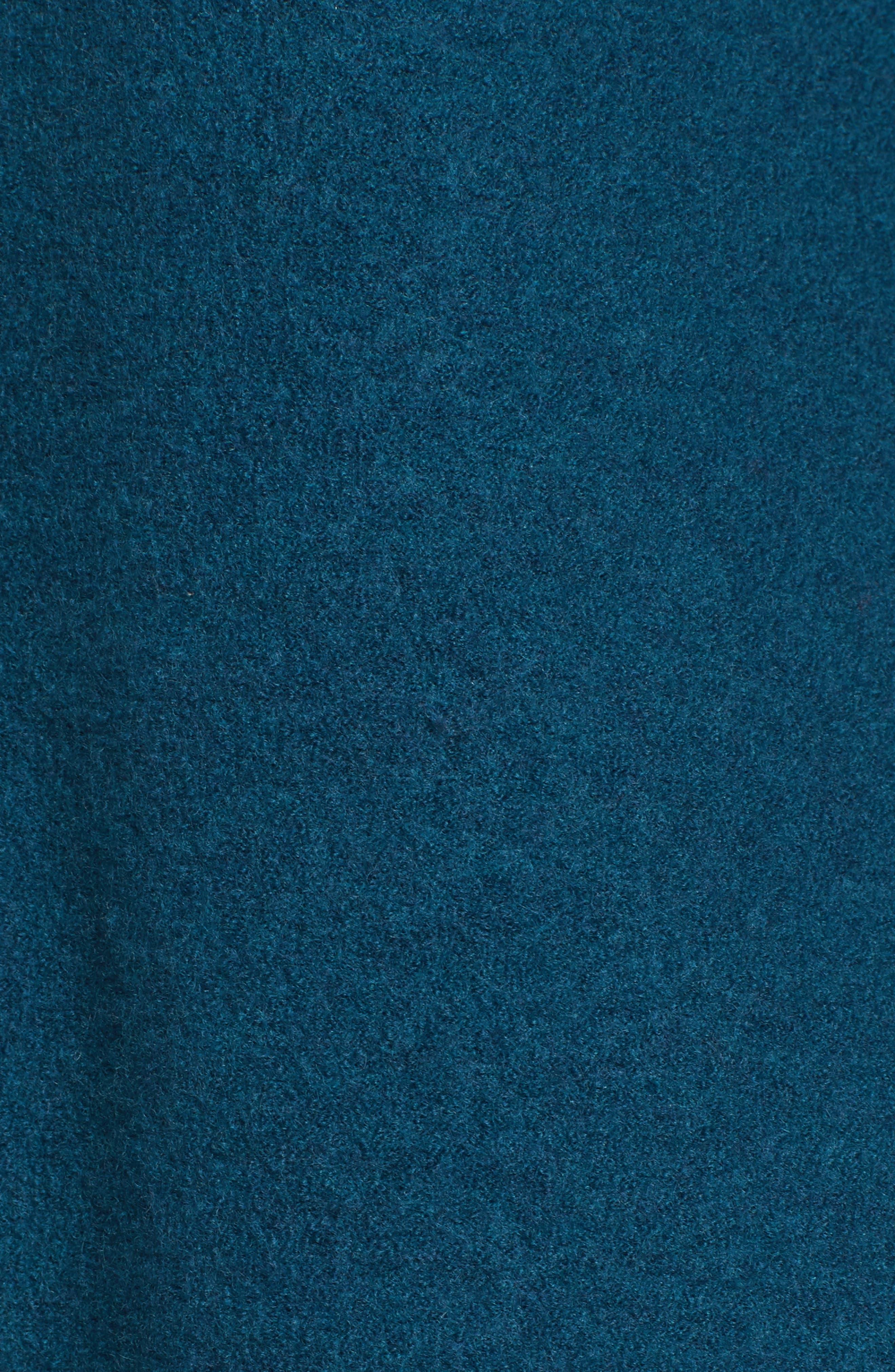 Boiled Merino Wool Top,                             Alternate thumbnail 5, color,                             Blue Spruce