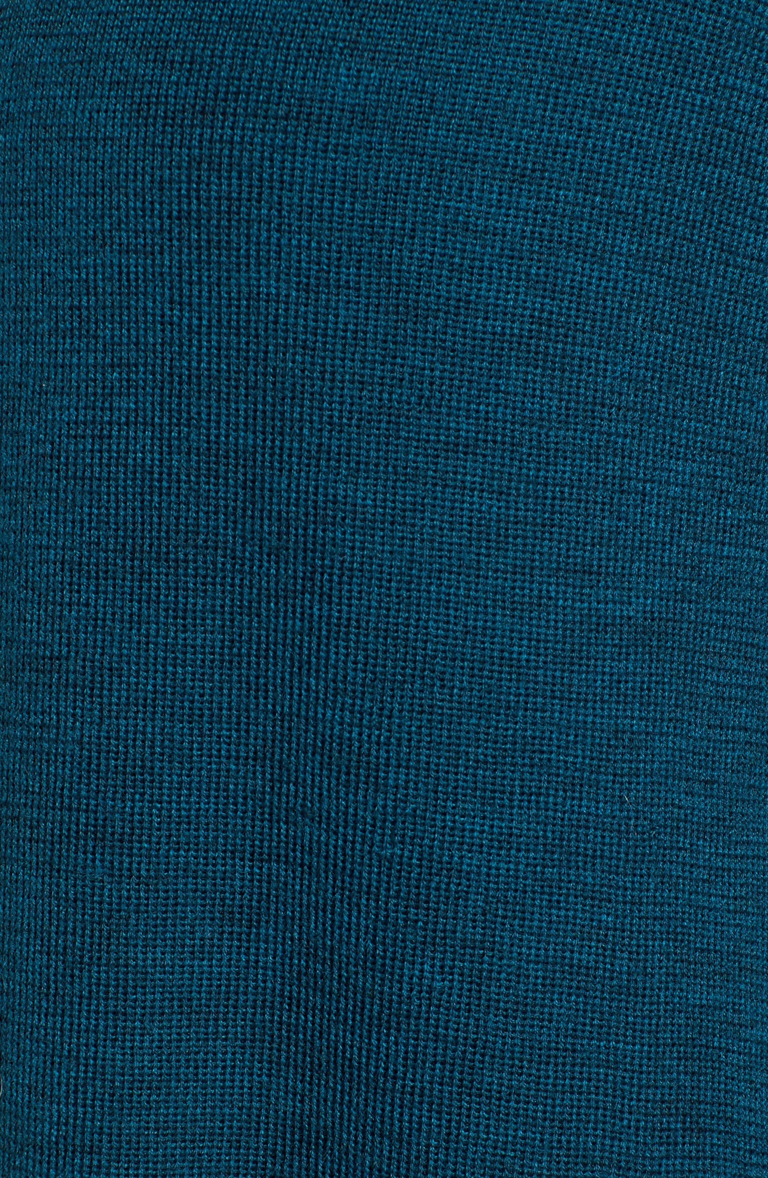 Long Merino Wool Cardigan,                             Alternate thumbnail 5, color,                             Blue Spruce