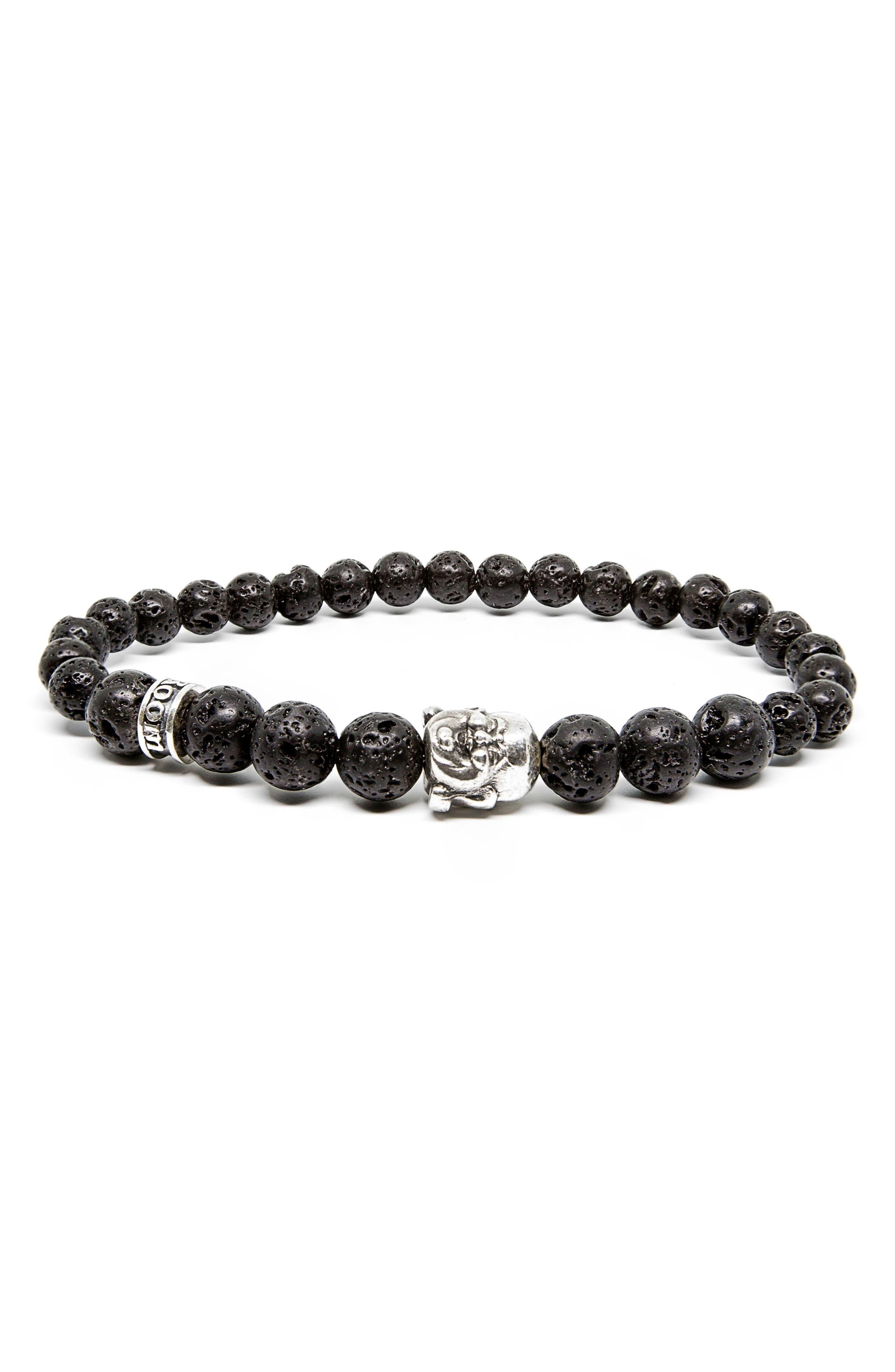 Main Image - Room101 Lava Stone Buddha Bracelet