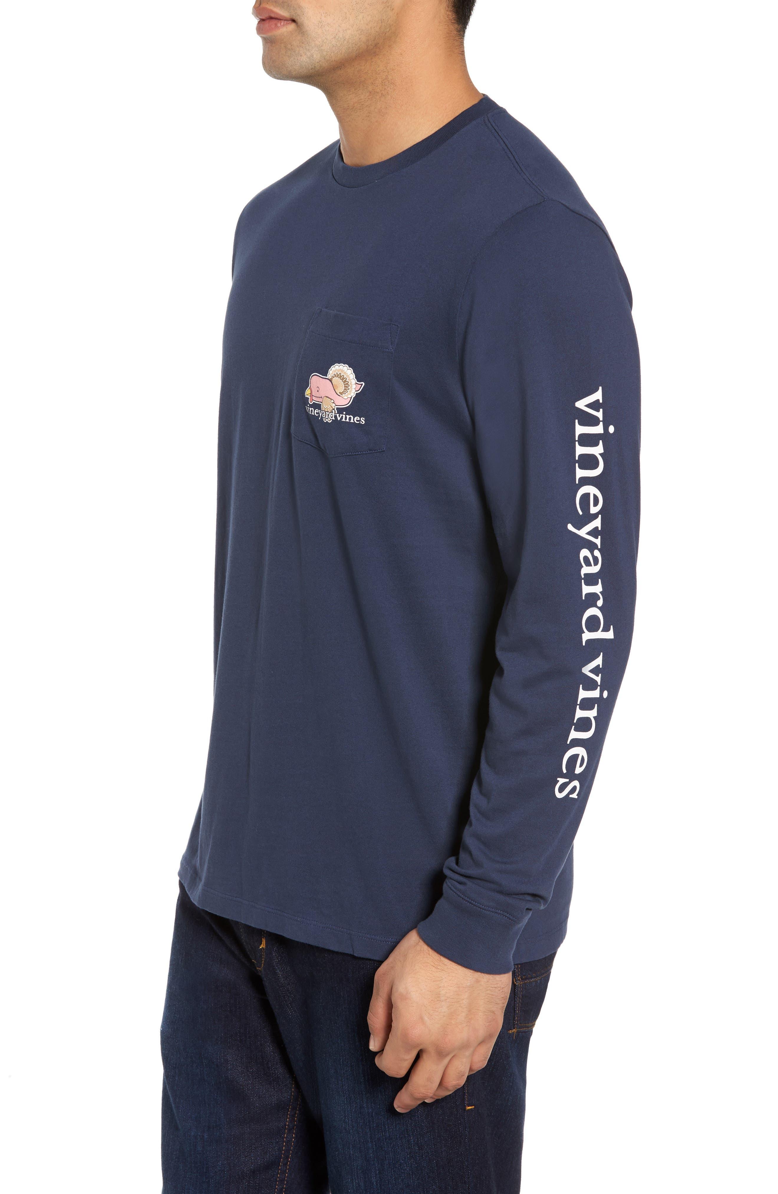 Alternate Image 3  - vineyard vines Turkey Whale Graphic Long Sleeve Pocket T-Shirt