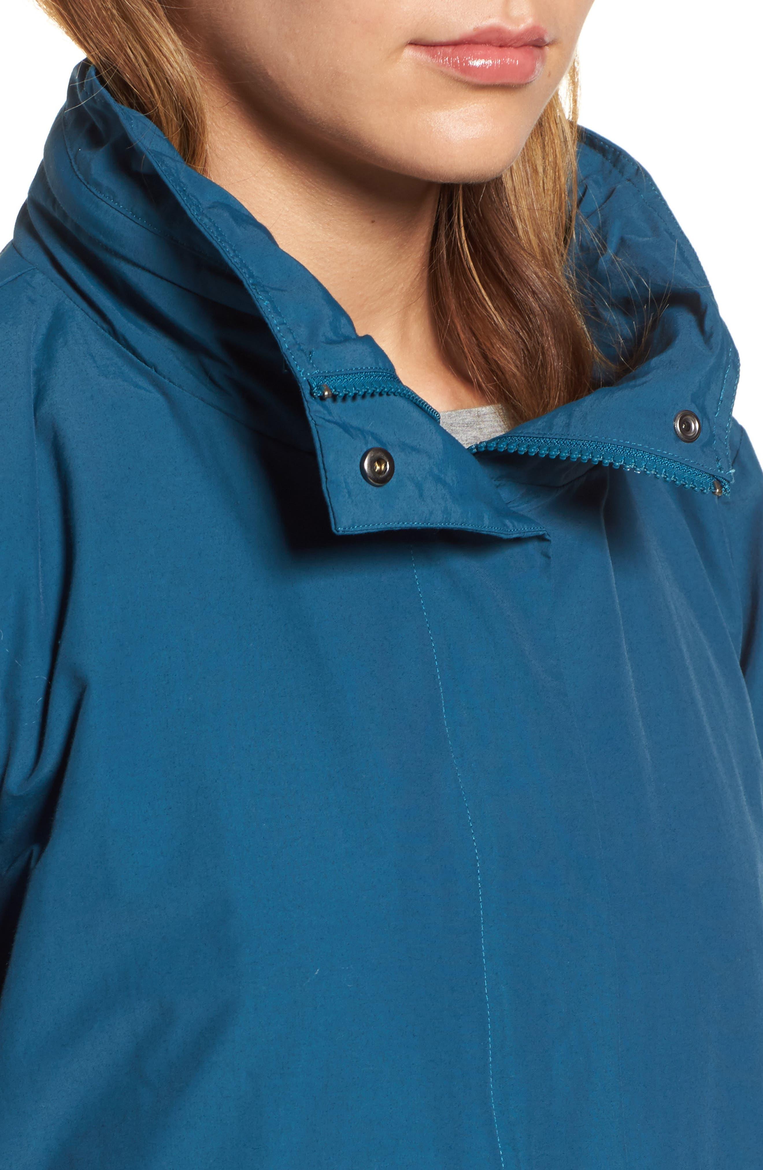 Hooded Utility Jacket,                             Alternate thumbnail 4, color,                             Blue Spruce
