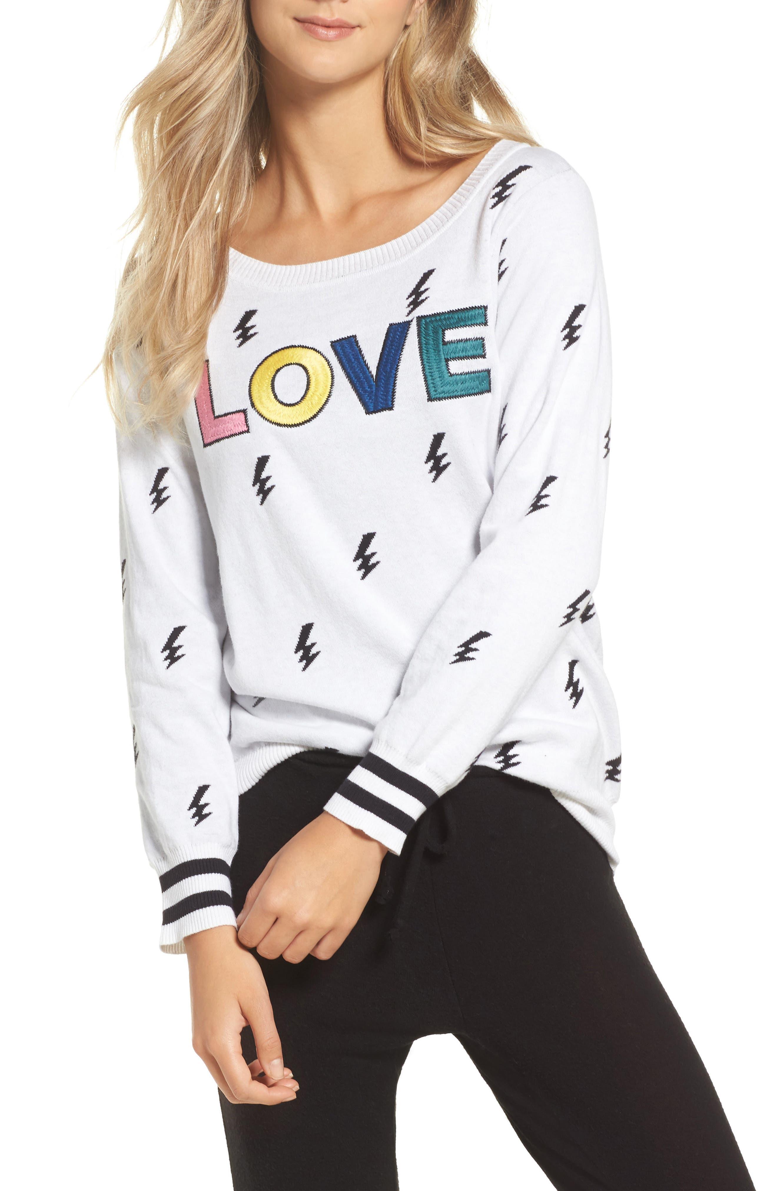 Main Image - Chaser Lightning Intarsia Sweater