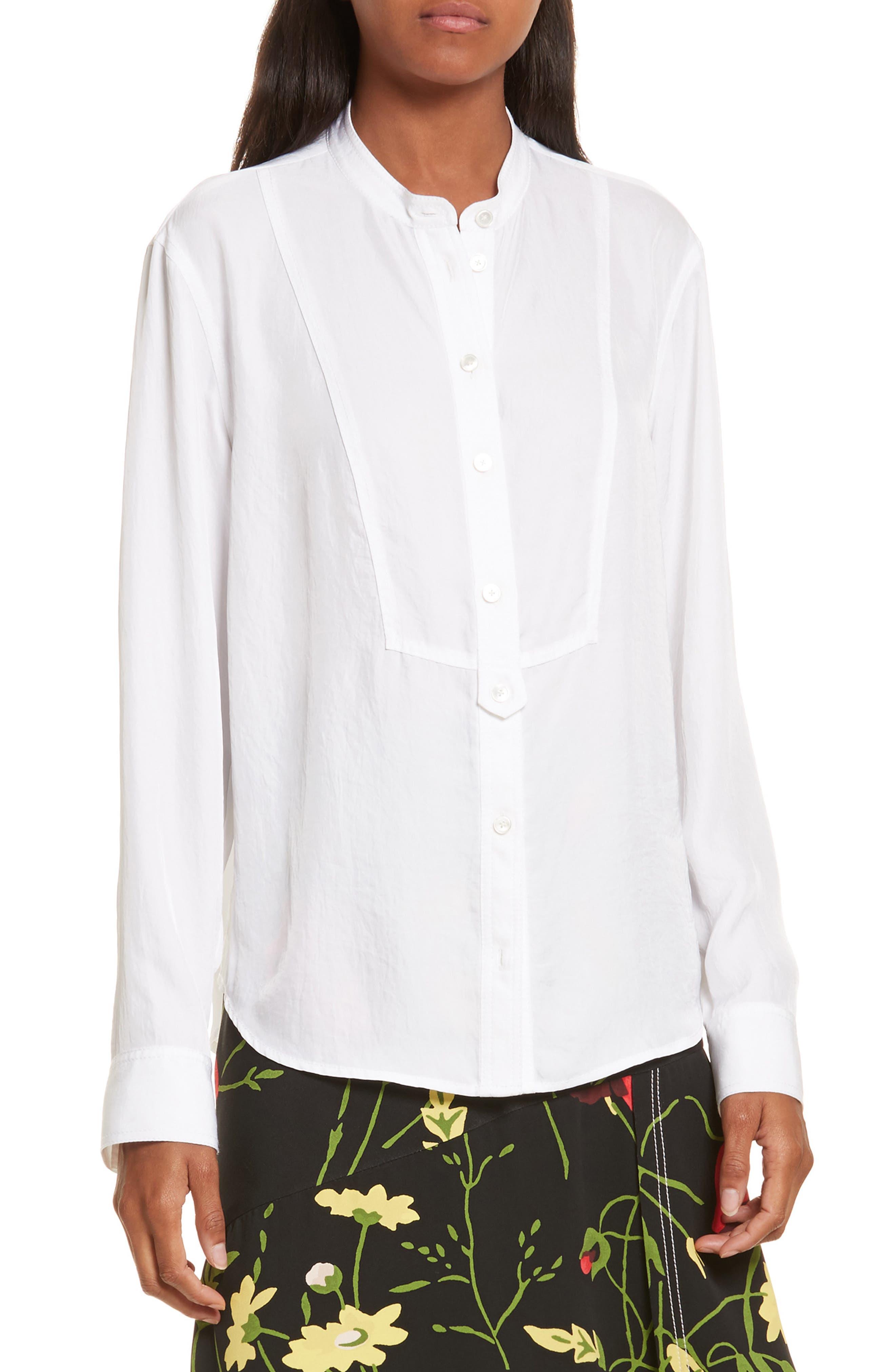 Twill Shirt,                         Main,                         color, Star White