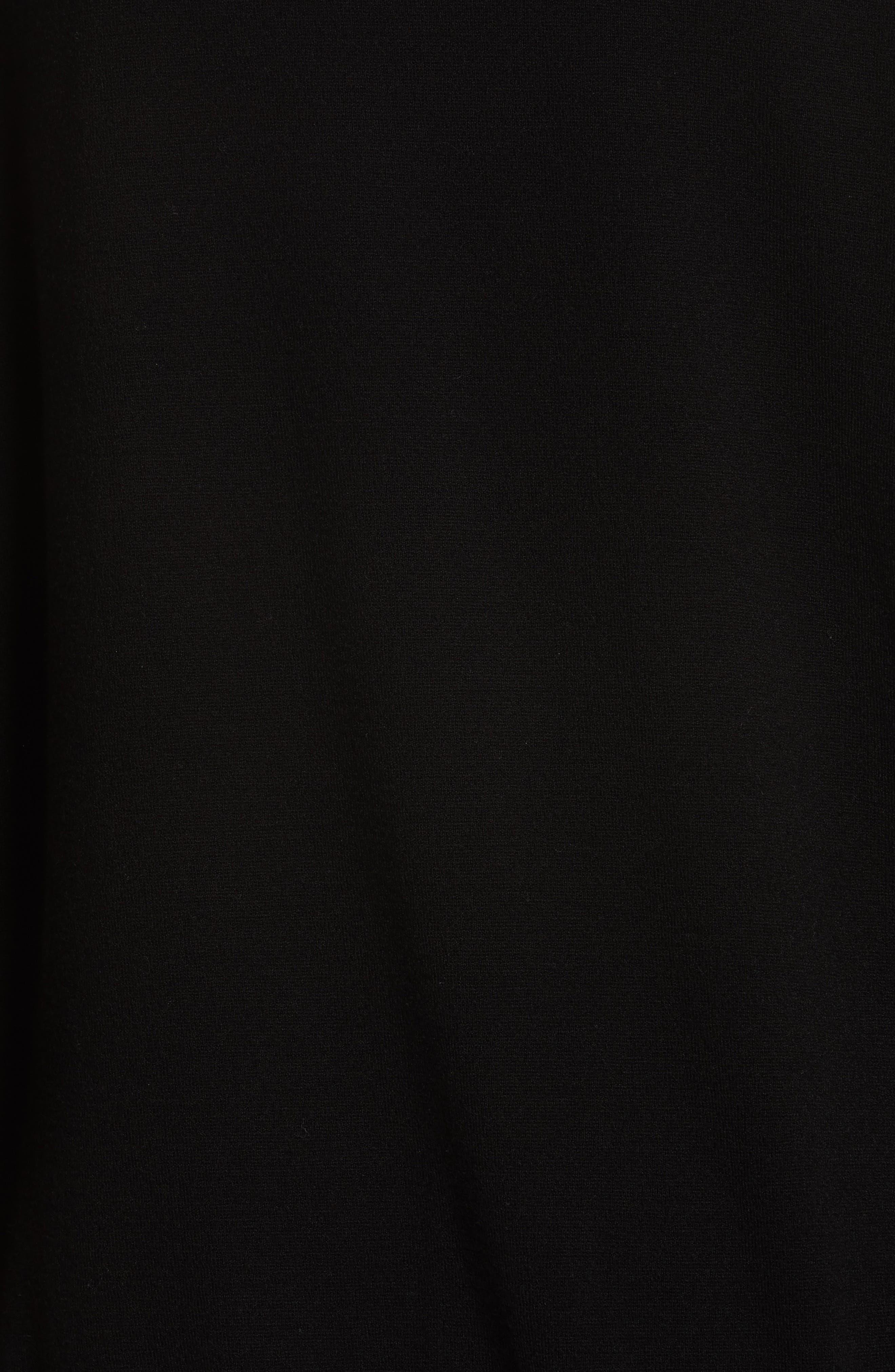 Roz Cutout Sweater,                             Alternate thumbnail 5, color,                             Black