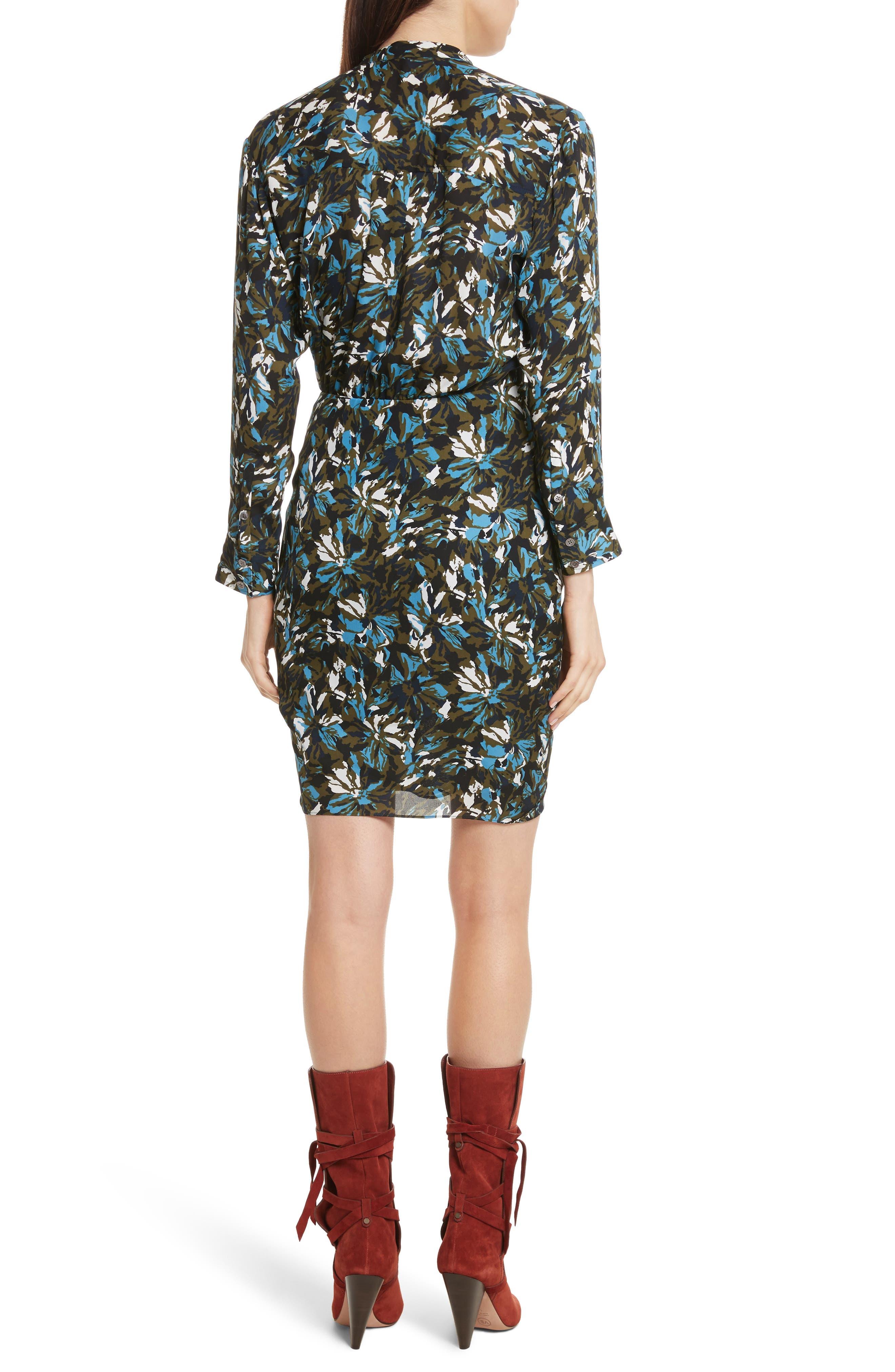 Alternate Image 2  - Veronica Beard Georgina Floral Print Silk Dress