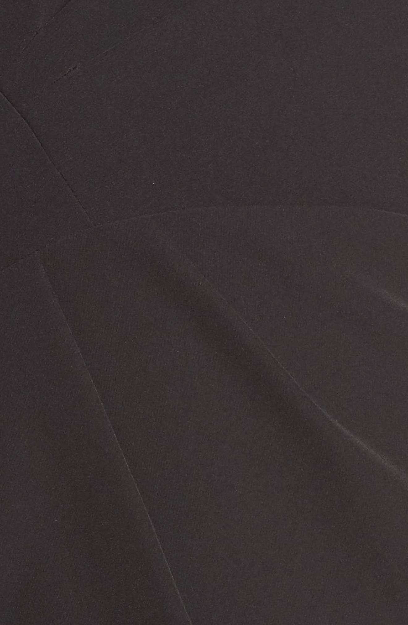 Anja One-Shoulder Sheath Dress,                             Alternate thumbnail 5, color,                             Black