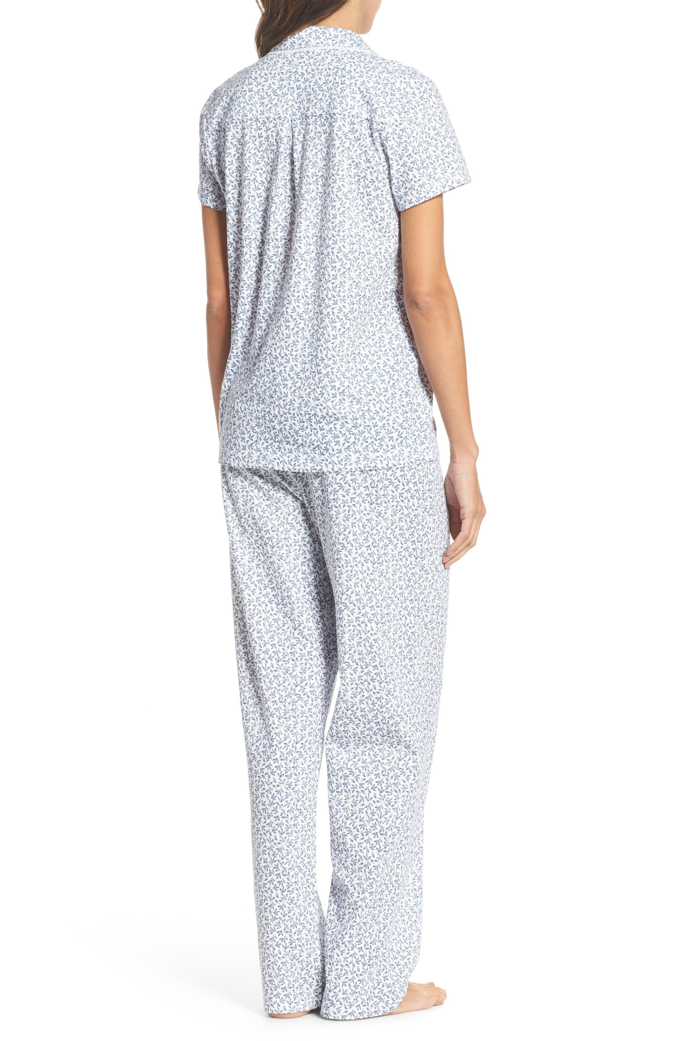 Print Jersey Pajamas,                             Alternate thumbnail 2, color,                             Leaf