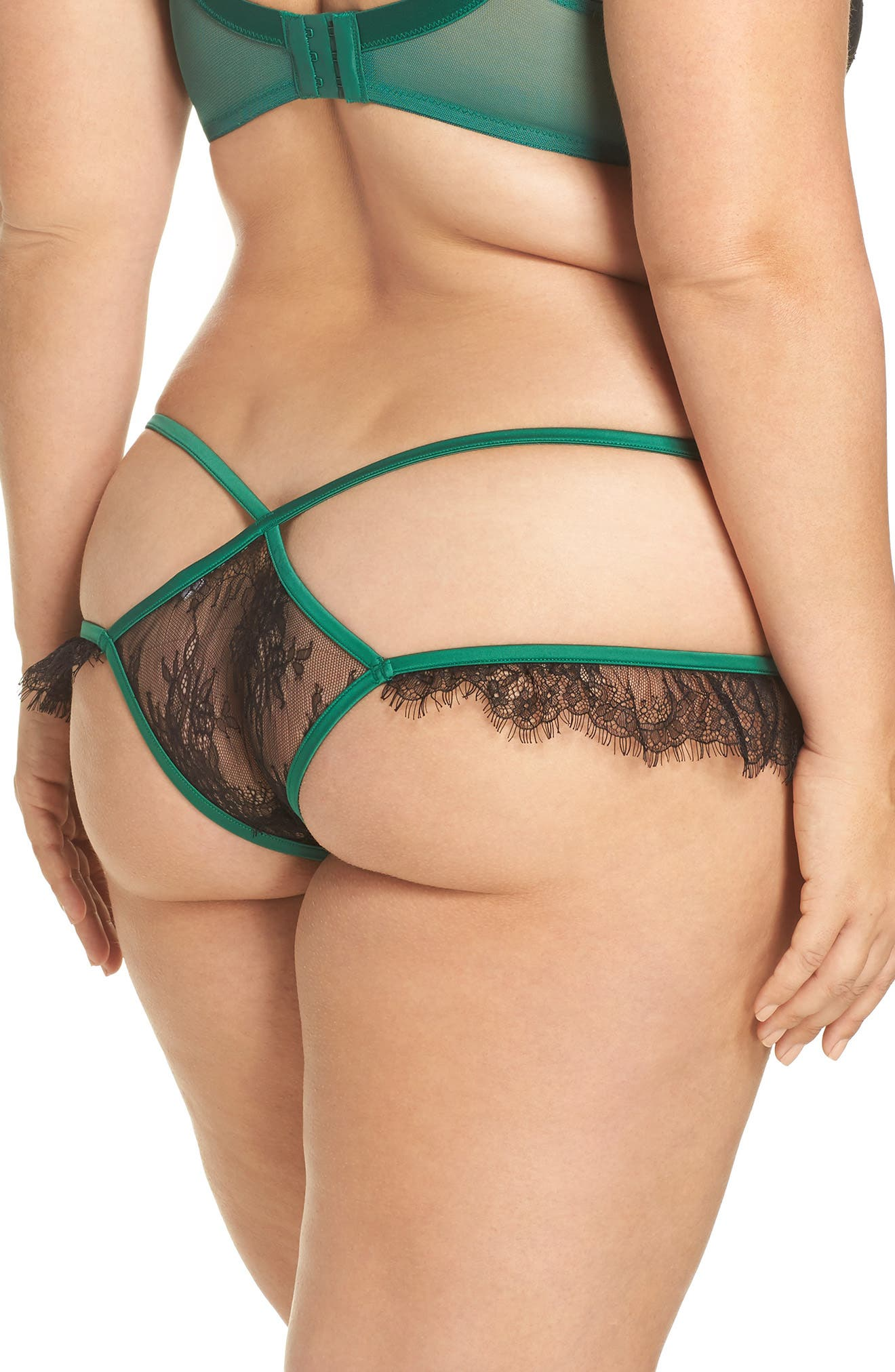 Tamara Lace Thong,                             Alternate thumbnail 2, color,                             Green