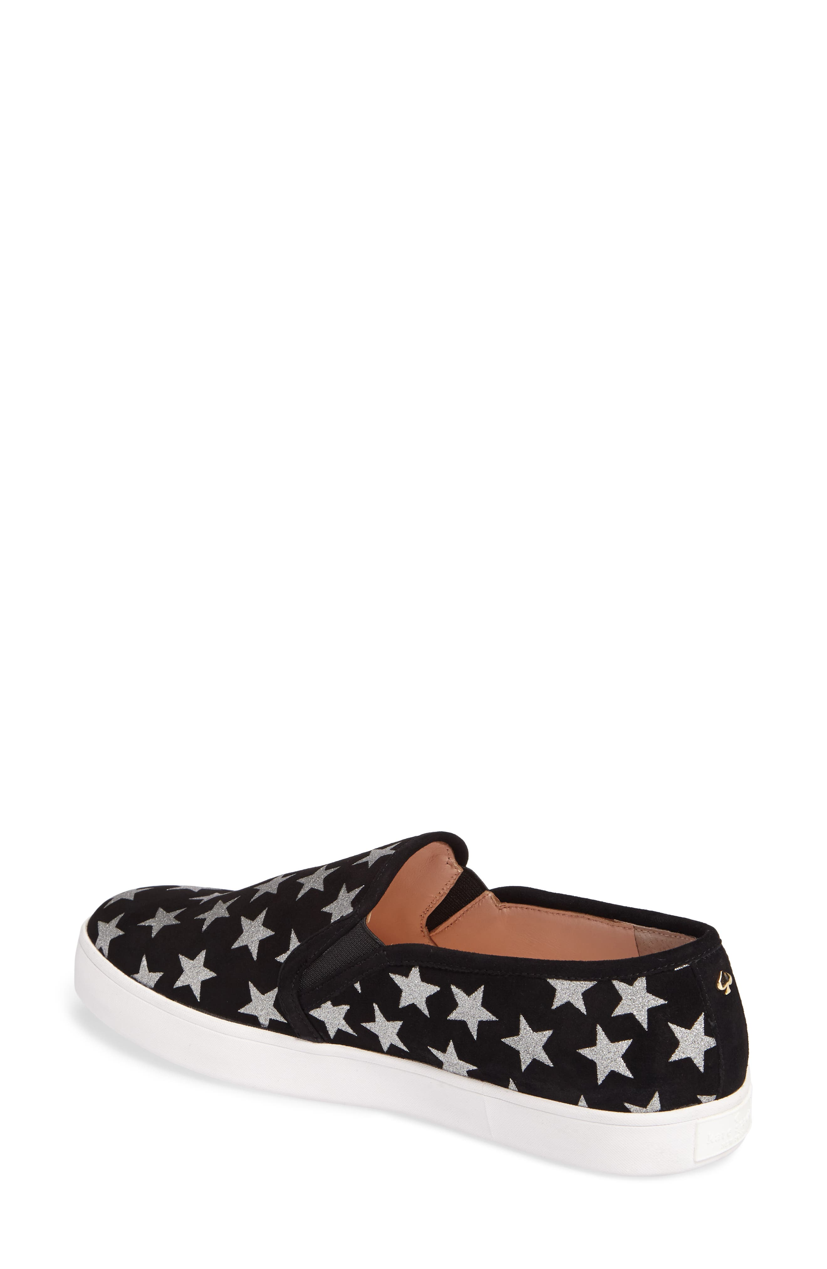 liberty slip-on sneaker,                             Alternate thumbnail 2, color,                             Black/ Silver
