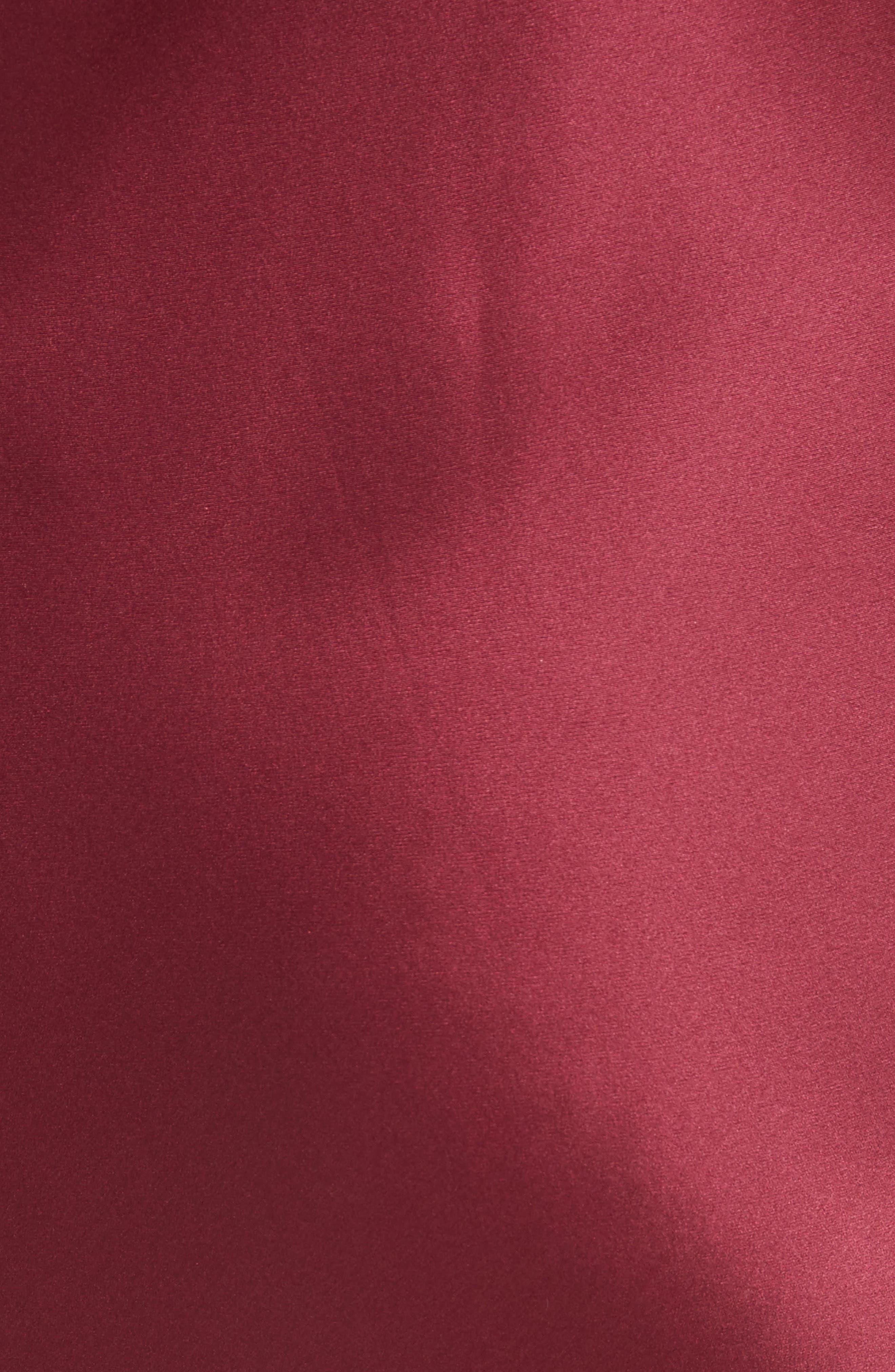 Silk Slipdress,                             Alternate thumbnail 5, color,                             Burgundy